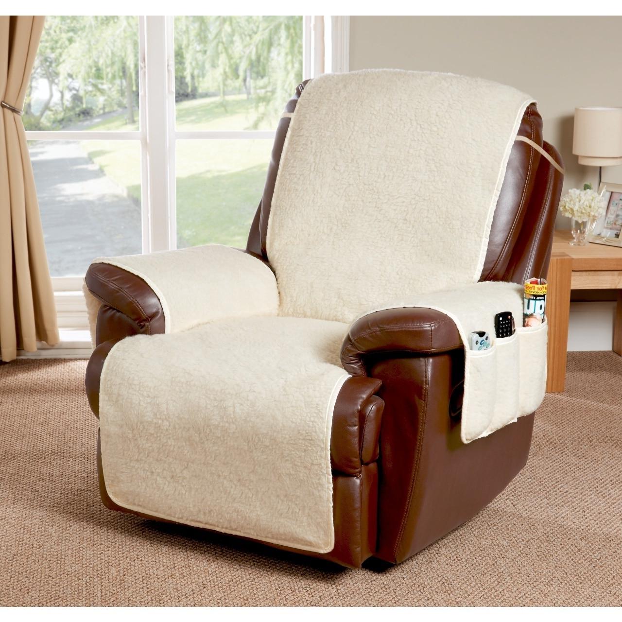 Fashionable Portmeirion Armchairs Within Cosy Up Armchair Or Recliner Cover (View 5 of 20)