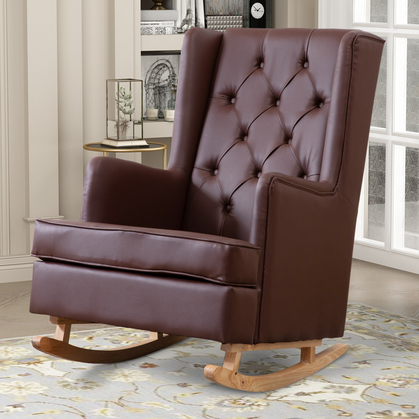 Faux Leather George Oliver Accent Chairs You'll Love In 2021 With Regard To Favorite Marisa Faux Leather Wingback Chairs (View 8 of 20)
