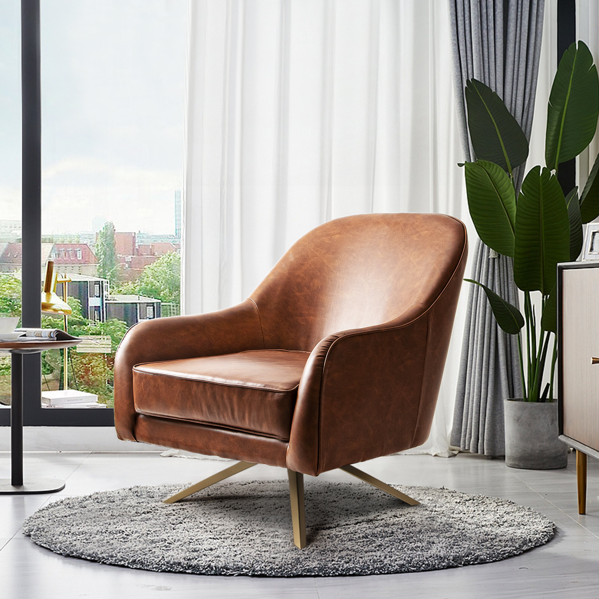 Faux Leather Removable Cushions Small Accent Chairs You'll Intended For 2019 Hazley Faux Leather Swivel Barrel Chairs (View 20 of 20)