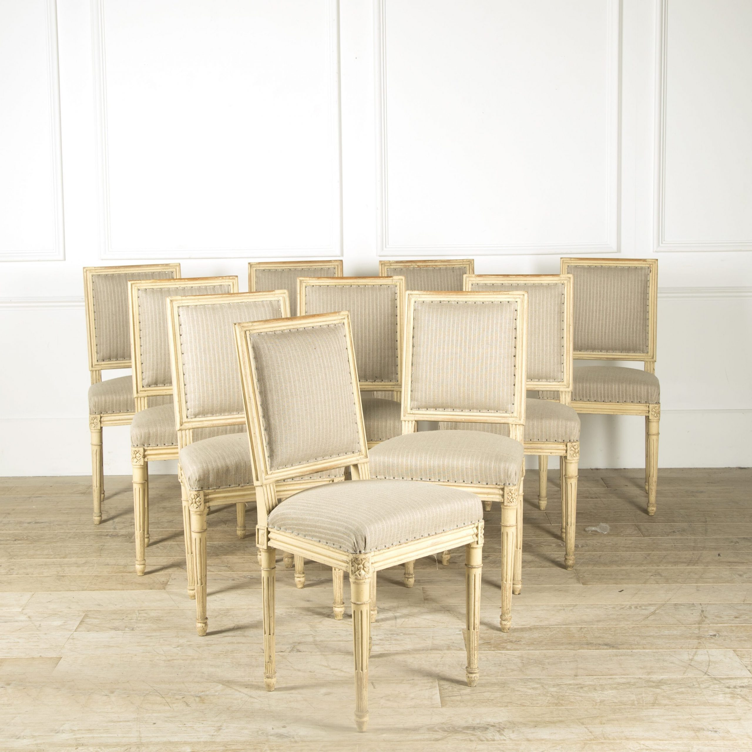 Favorite Chiles Linen Side Chairs Pertaining To Set Of 10 Louis Xvi Style Dining Chairs (View 20 of 20)