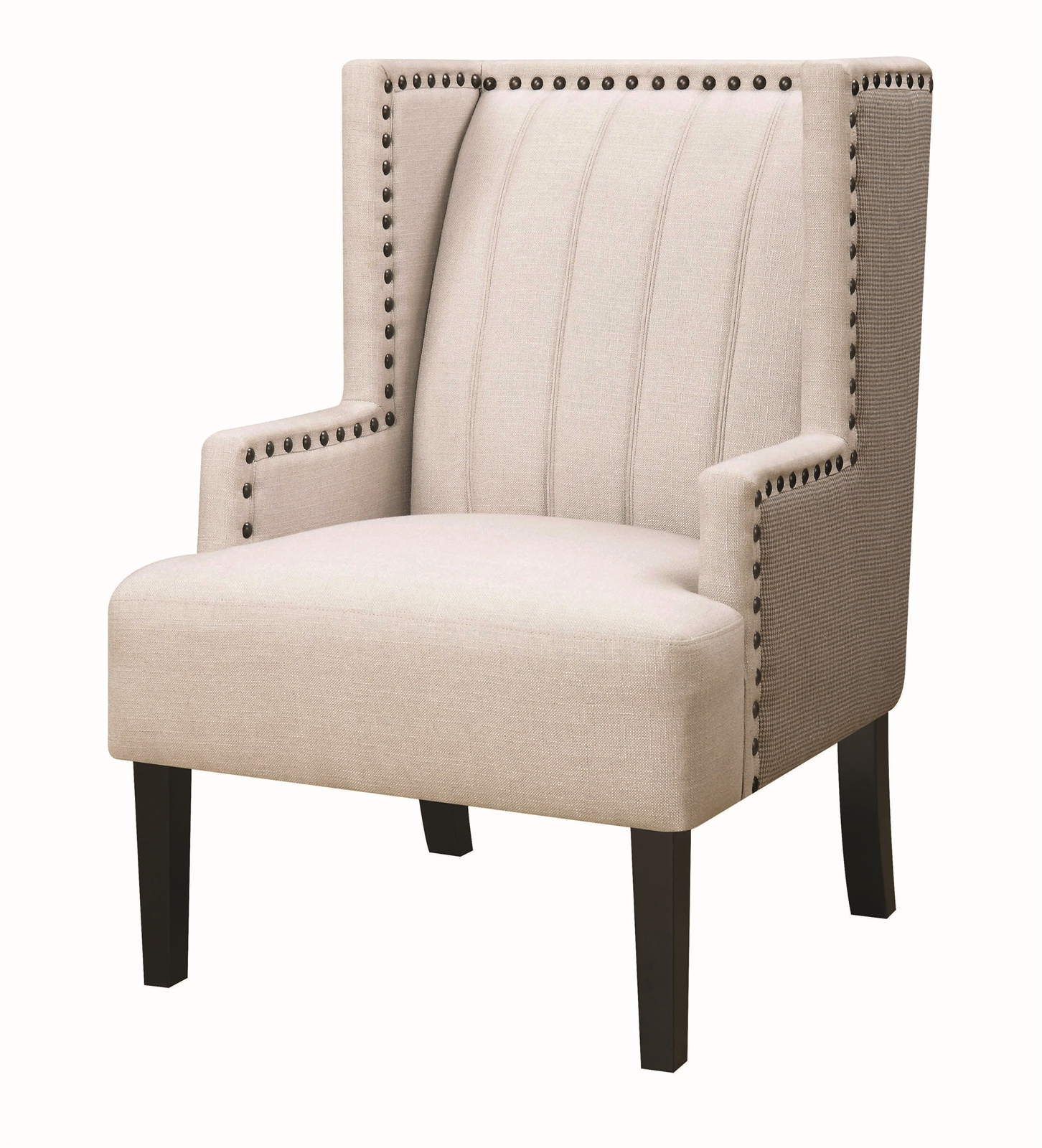 Favorite Chiles Linen Side Chairs Throughout Chile Cream & Gray Linen Accent Chair (View 4 of 20)