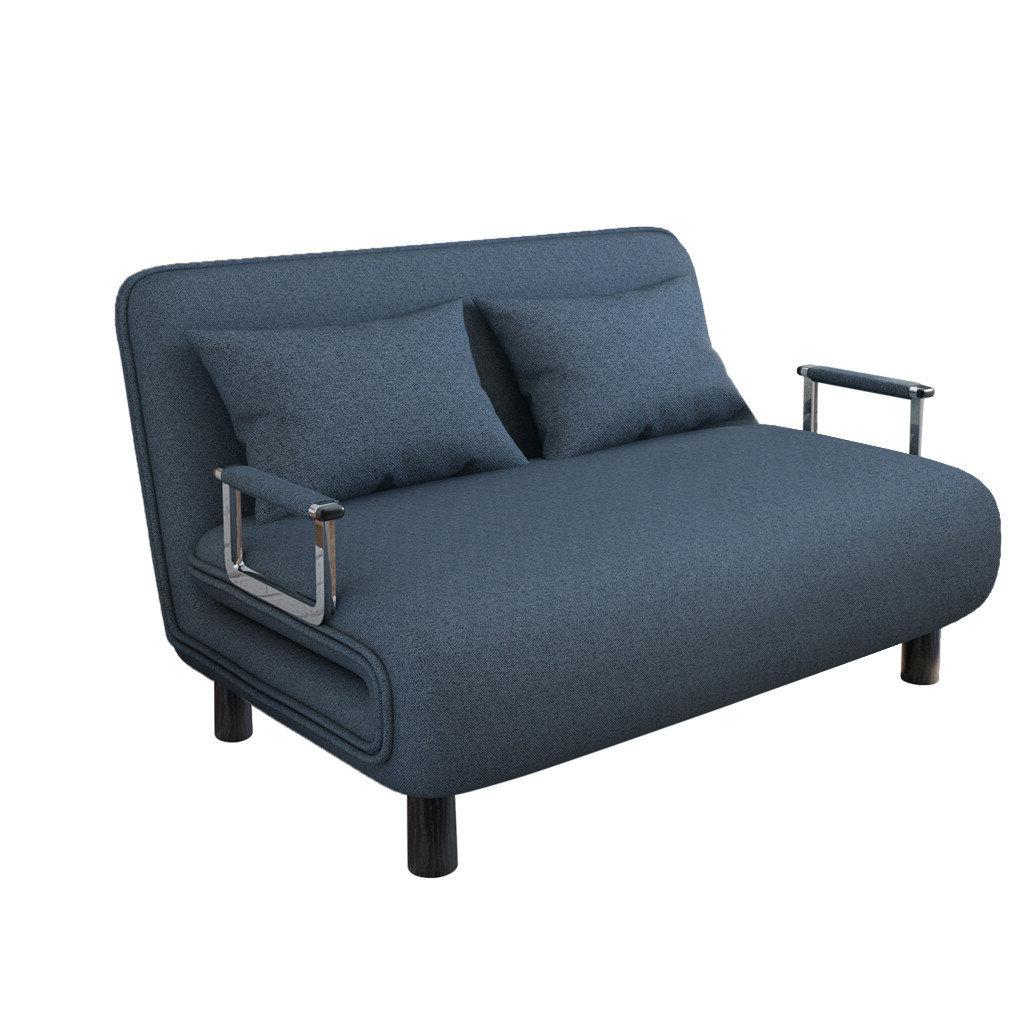"Favorite Hikaru 47"" Wide Tuxedo Arm Convertible Sofa Inside Akimitsu Barrel Chair And Ottoman Sets (View 10 of 20)"