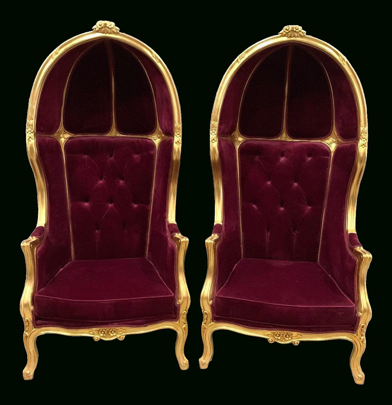 Favorite Lenaghan Wingback Chairs Within Burgundy Velvet Wingback Chair (View 15 of 20)