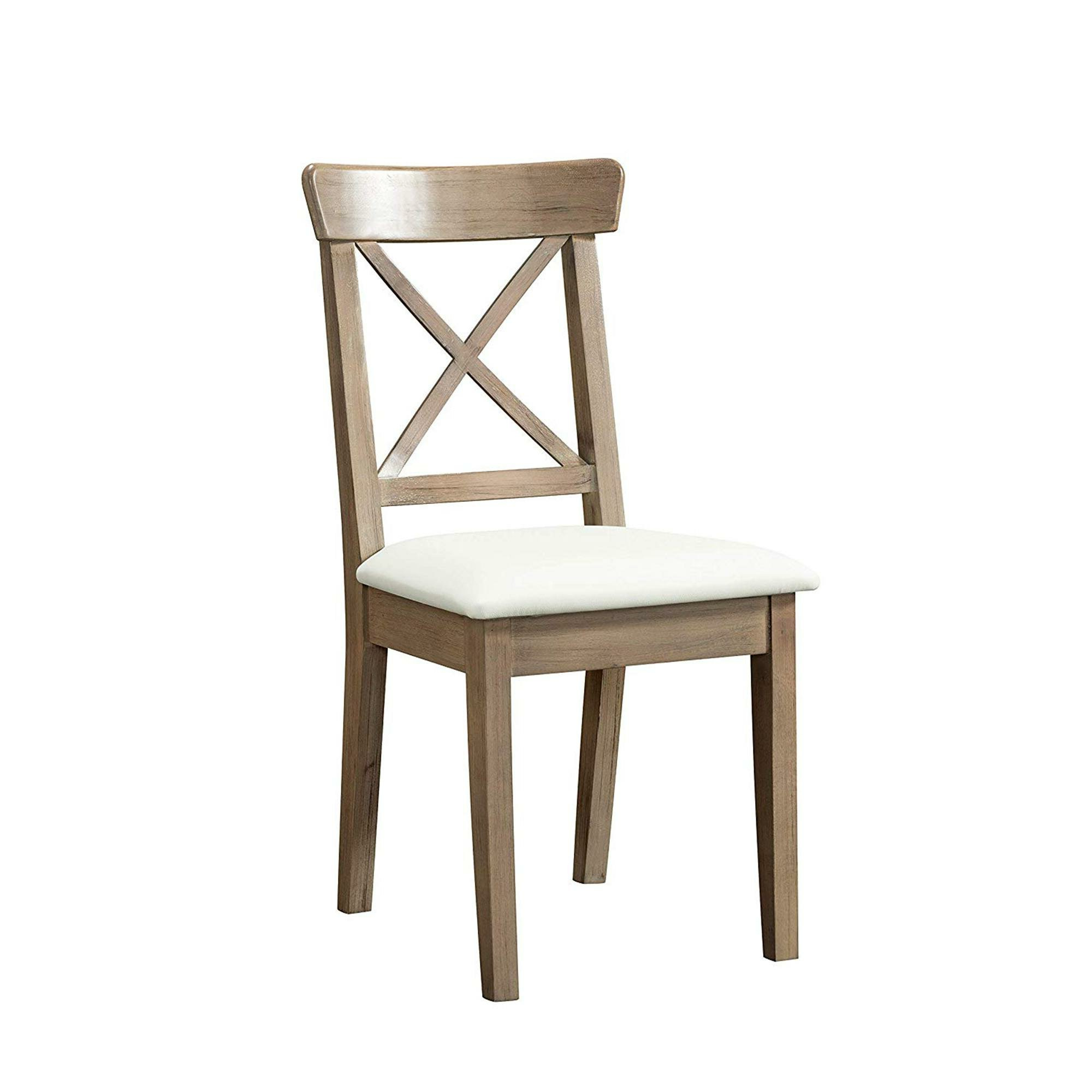 Favorite Liston Cross Back Side Chair In Brown Regarding Liston Faux Leather Barrel Chairs (View 11 of 20)