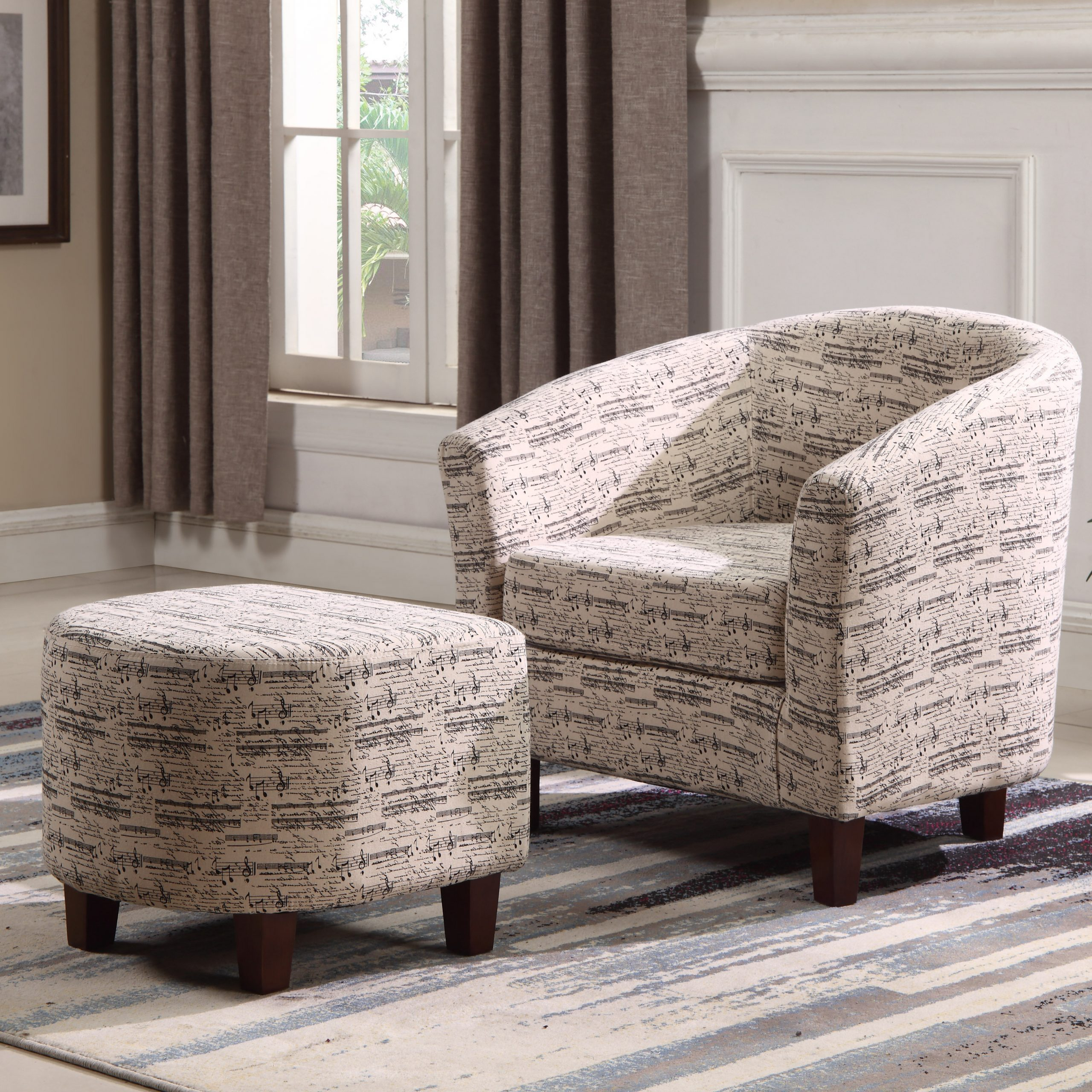 Favorite Lochlan Barrel Chair And Ottoman Intended For Akimitsu Barrel Chair And Ottoman Sets (View 5 of 20)