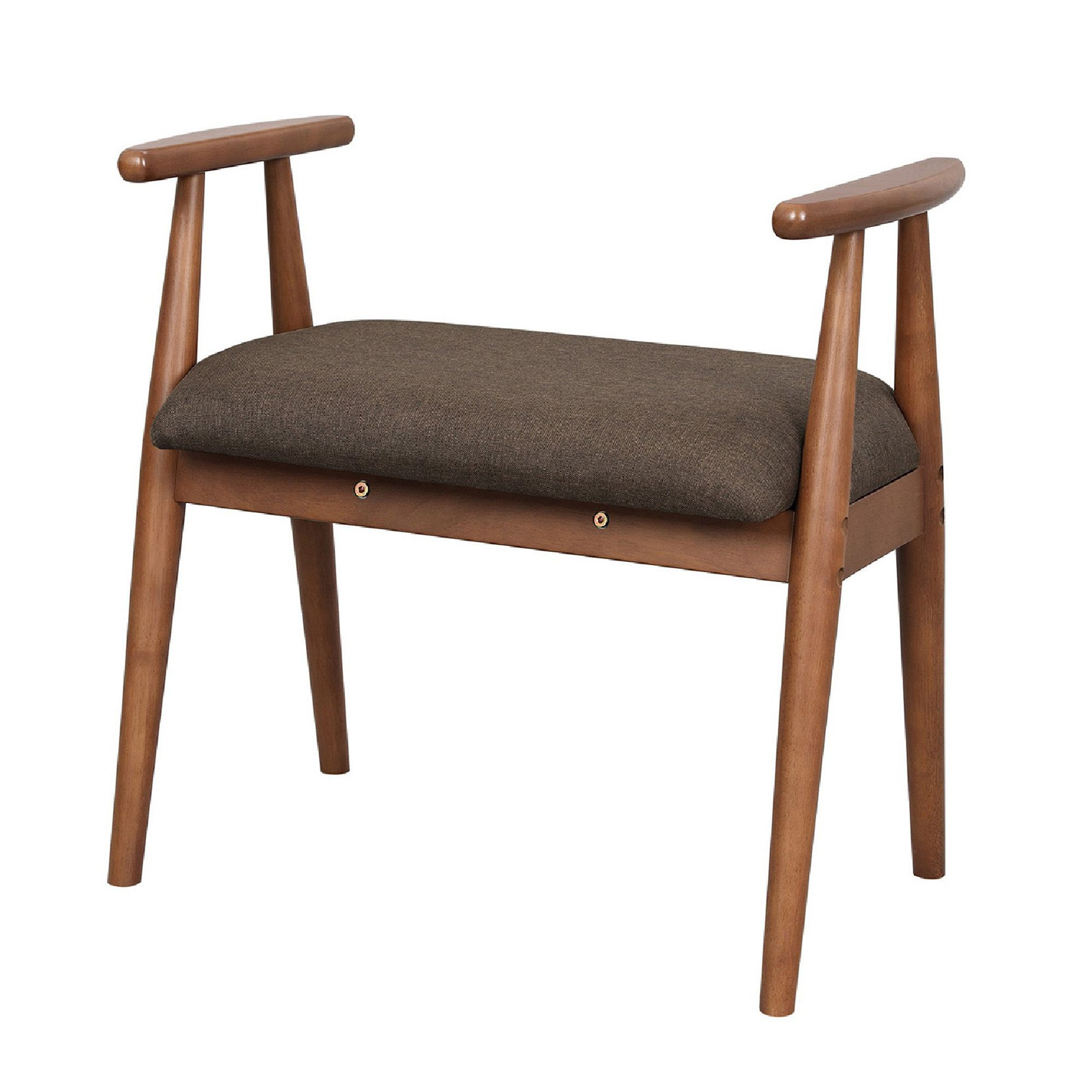 Favorite Wooden Frame Shoe Bench With Padded Seat And Splayed Legs Throughout Bucci Slipper Chairs (View 17 of 20)