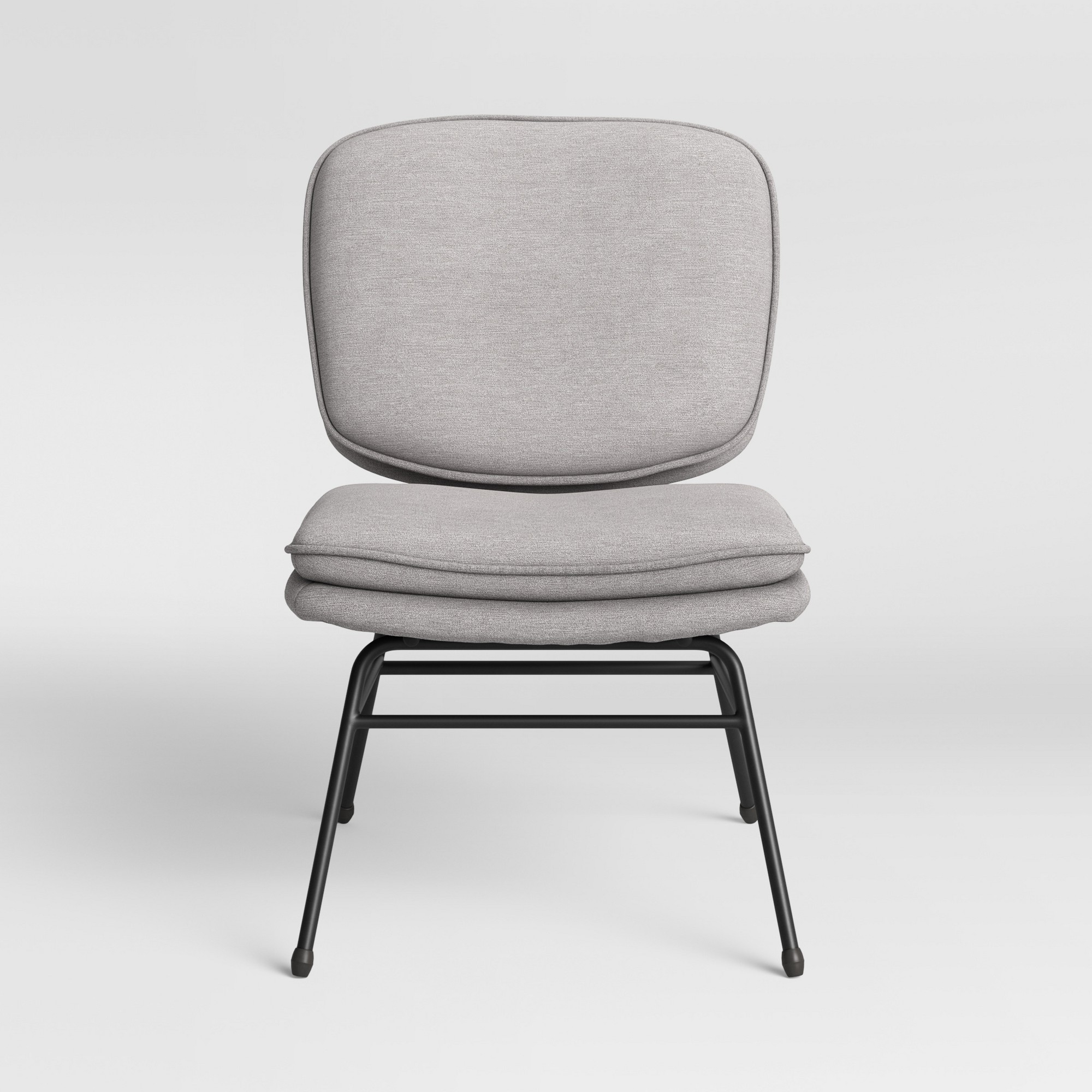 Fletcher Slipper Chair With Black Metal Legs Light Gray – Project 62 – Target Regarding Well Known Grinnell Silky Velvet Papasan Chairs (View 20 of 20)