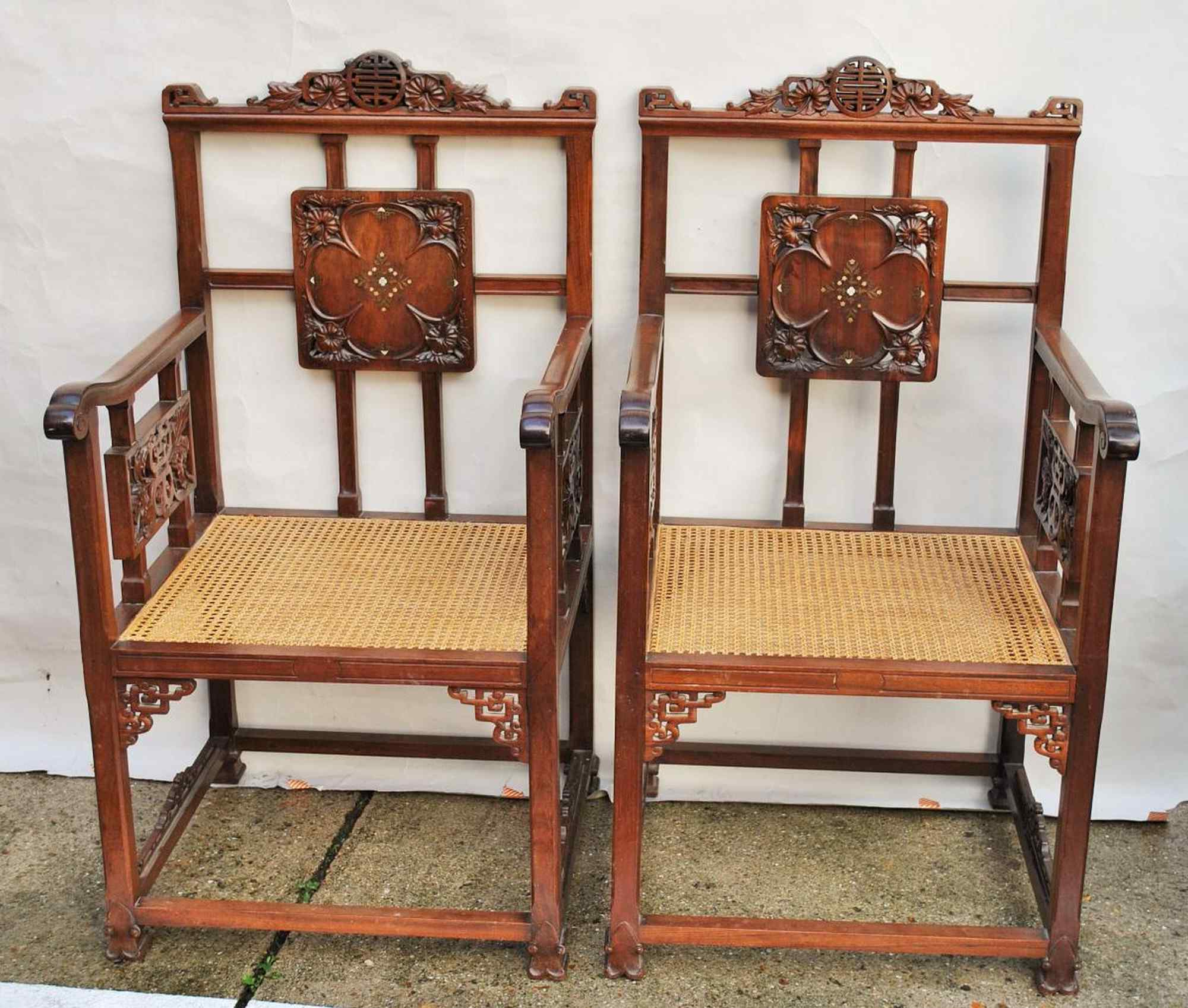 Focht Armchairs Pertaining To Latest Pair Of Armchairs With Mother Of Pearl Inlay, Late 19th Cent (View 19 of 20)
