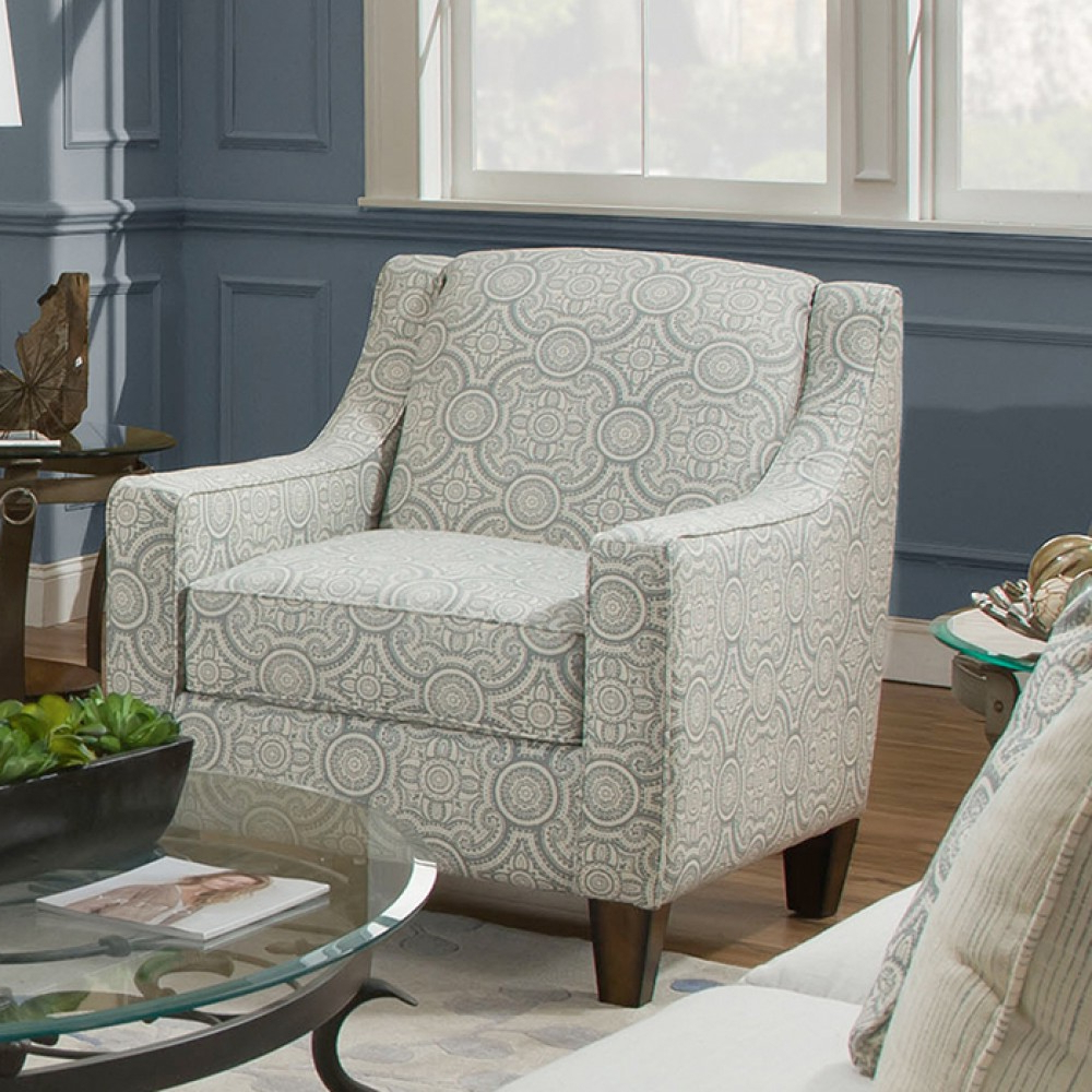 Franklin Brinton Accent Chair In Fable Dove In Current Riverside Drive Barrel Chair And Ottoman Sets (View 17 of 20)