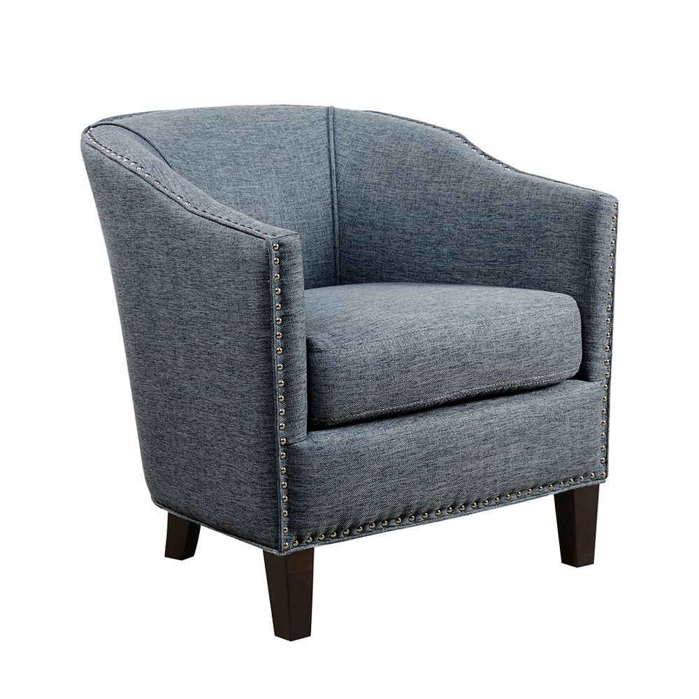 Fremont Barrel Accent Chair, Slate Blue (View 17 of 20)