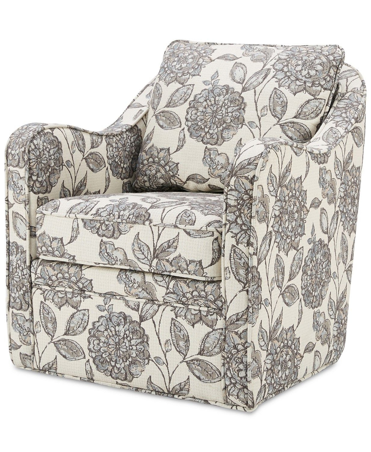 Furniture Dulce Swivel Chair & Reviews – Furniture – Macy's Pertaining To Well Known Loftus Swivel Armchairs (View 17 of 20)