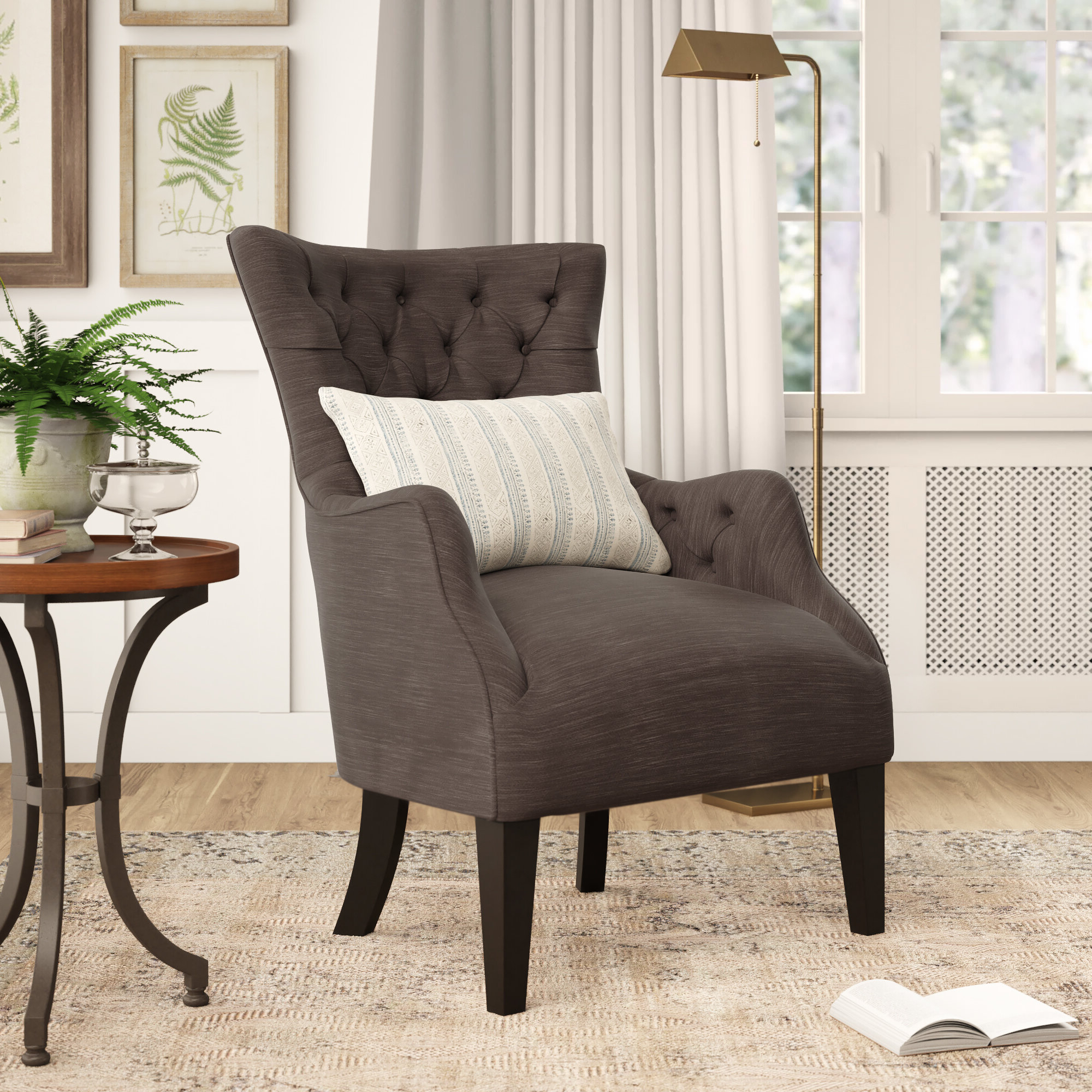 Galesville Tufted Polyester Wingback Chairs Within Best And Newest Polyester & Polyester Blend Birch Lane™ Accent Chairs You'll (View 5 of 20)