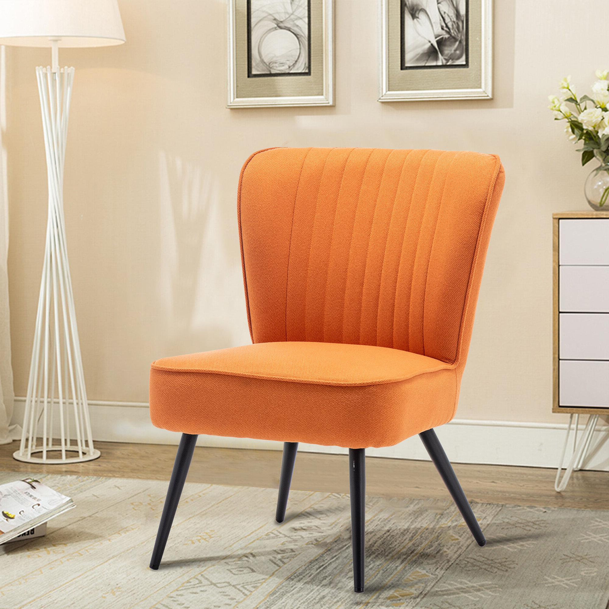 Goodspeed Slipper Chairs (set Of 2) Pertaining To Most Up To Date Modern & Contemporary Slipper Accent Chairs You'll Love In (View 7 of 20)