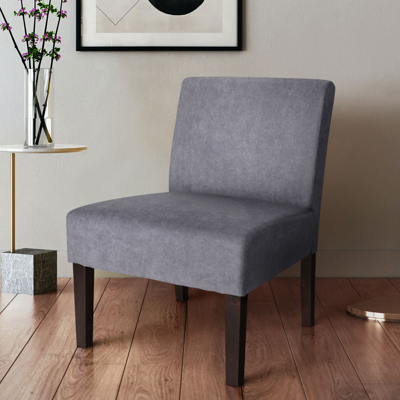 Gozzoli Slipper Chairs Regarding Most Recent Harland Modern Armless Slipper Chair (View 4 of 20)