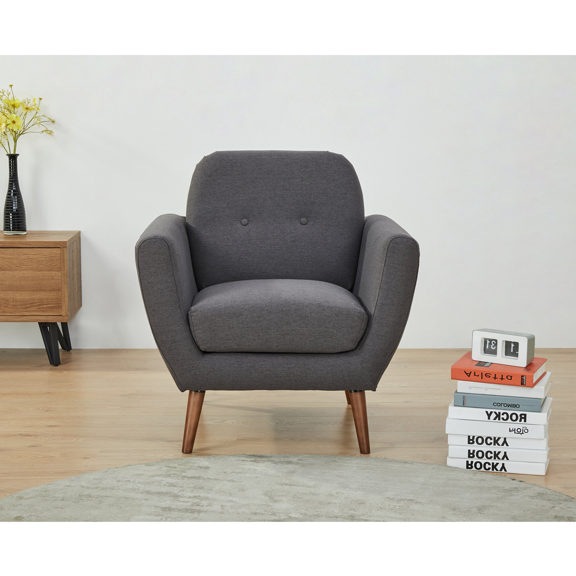 Hanner Polyester Armchairs Inside Most Popular Rasmussen Armchair (View 12 of 20)