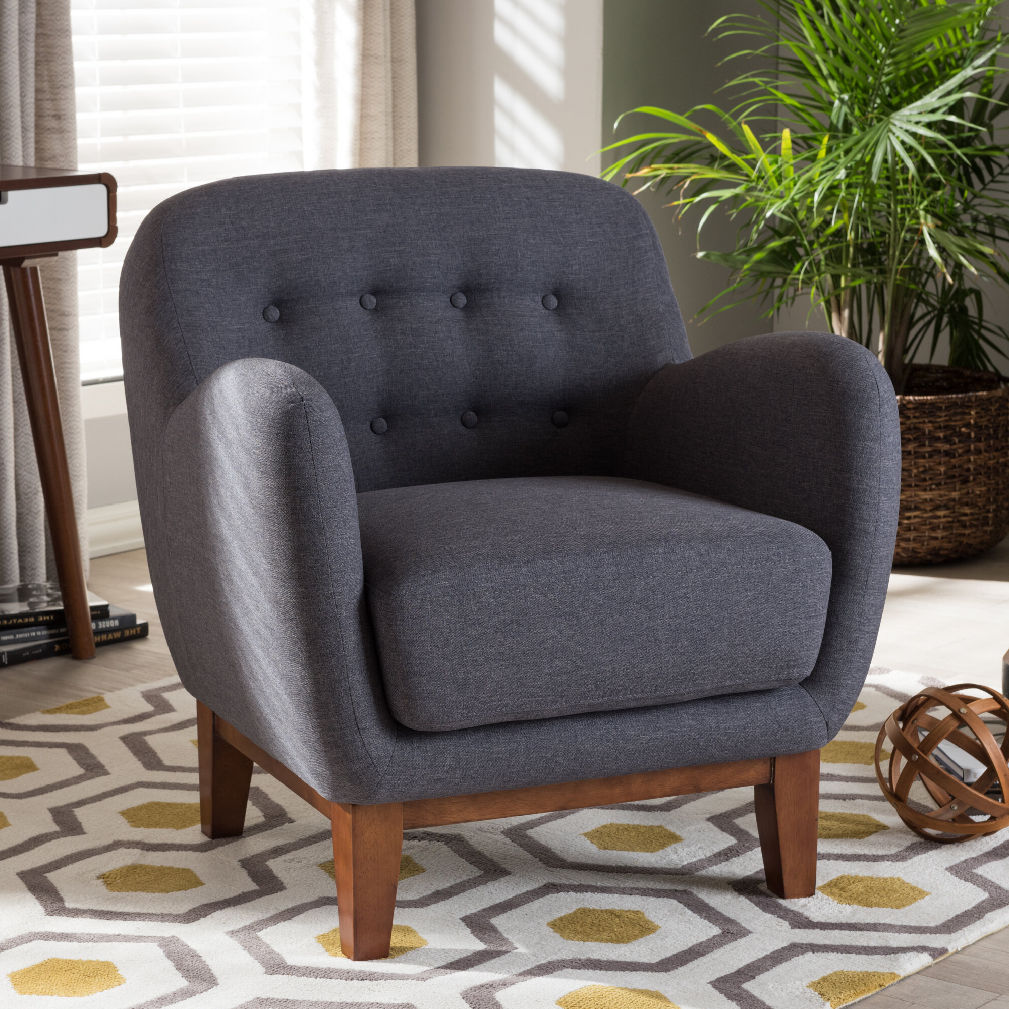 Hanner Polyester Armchairs Within Fashionable Wrentham Armchair (View 17 of 20)