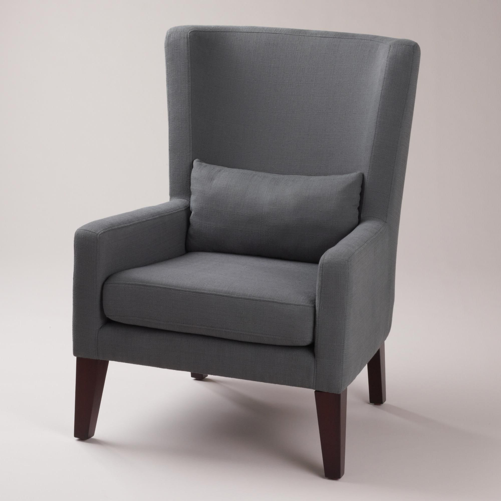High Back Chairs, Living Pertaining To Allis Tufted Polyester Blend Wingback Chairs (View 6 of 20)