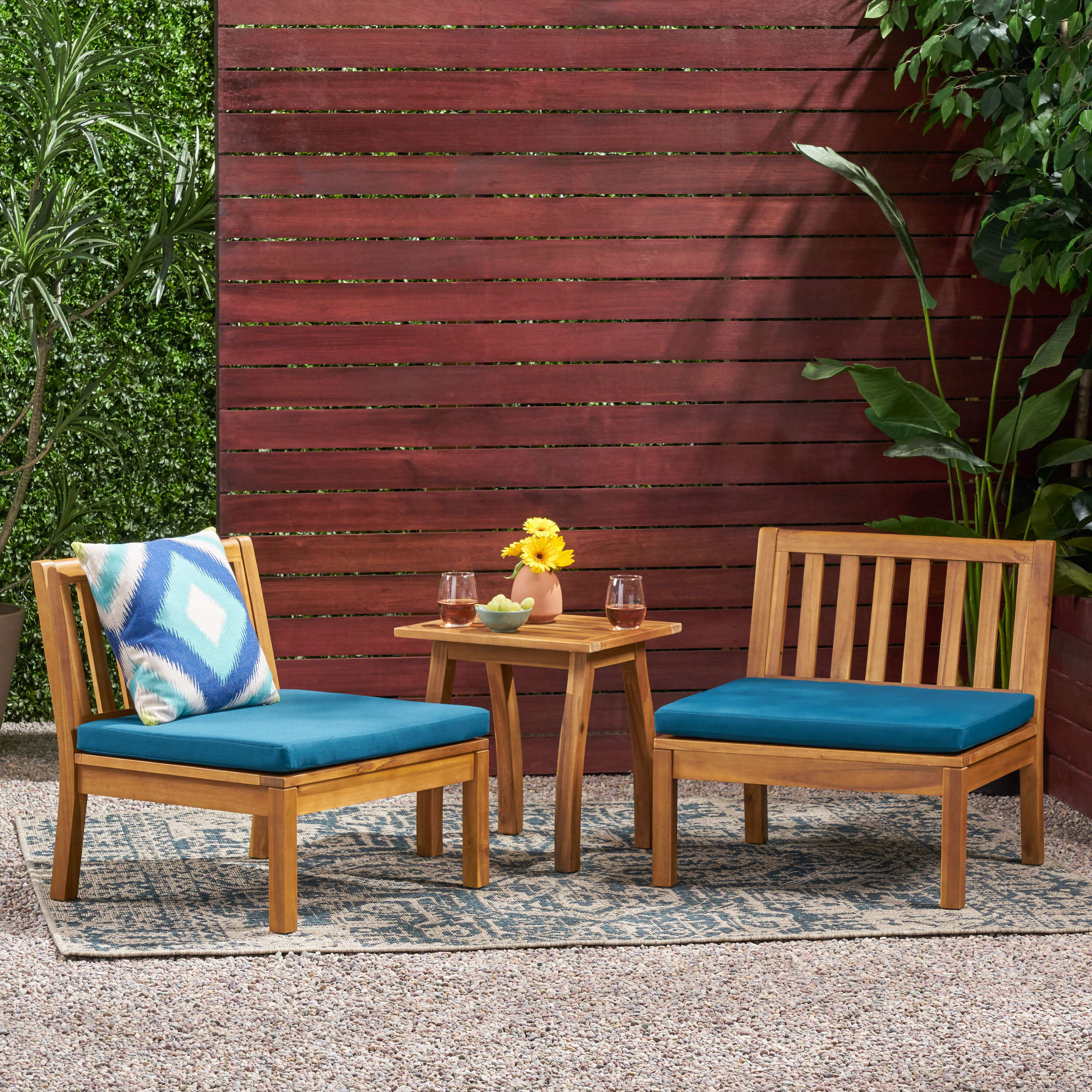 Hiltz Armchairs Within Popular Hiltz Outdoor Chat 3 Piece Seating Group With Cushions (View 9 of 20)