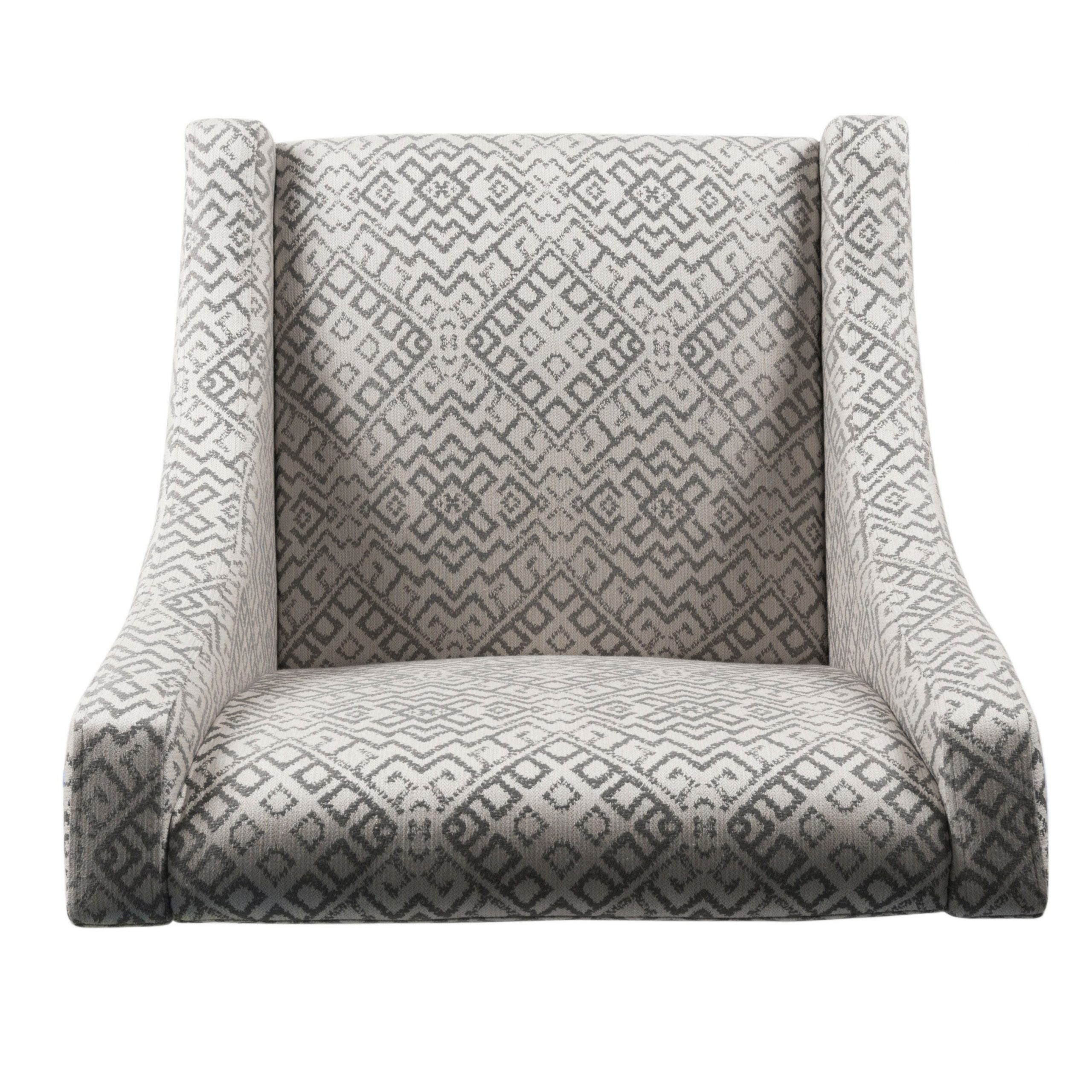 Homepop Swoop Accent Chair In Tonal Gray In Recent Altamahaw Swoop Side Chairs (View 17 of 20)