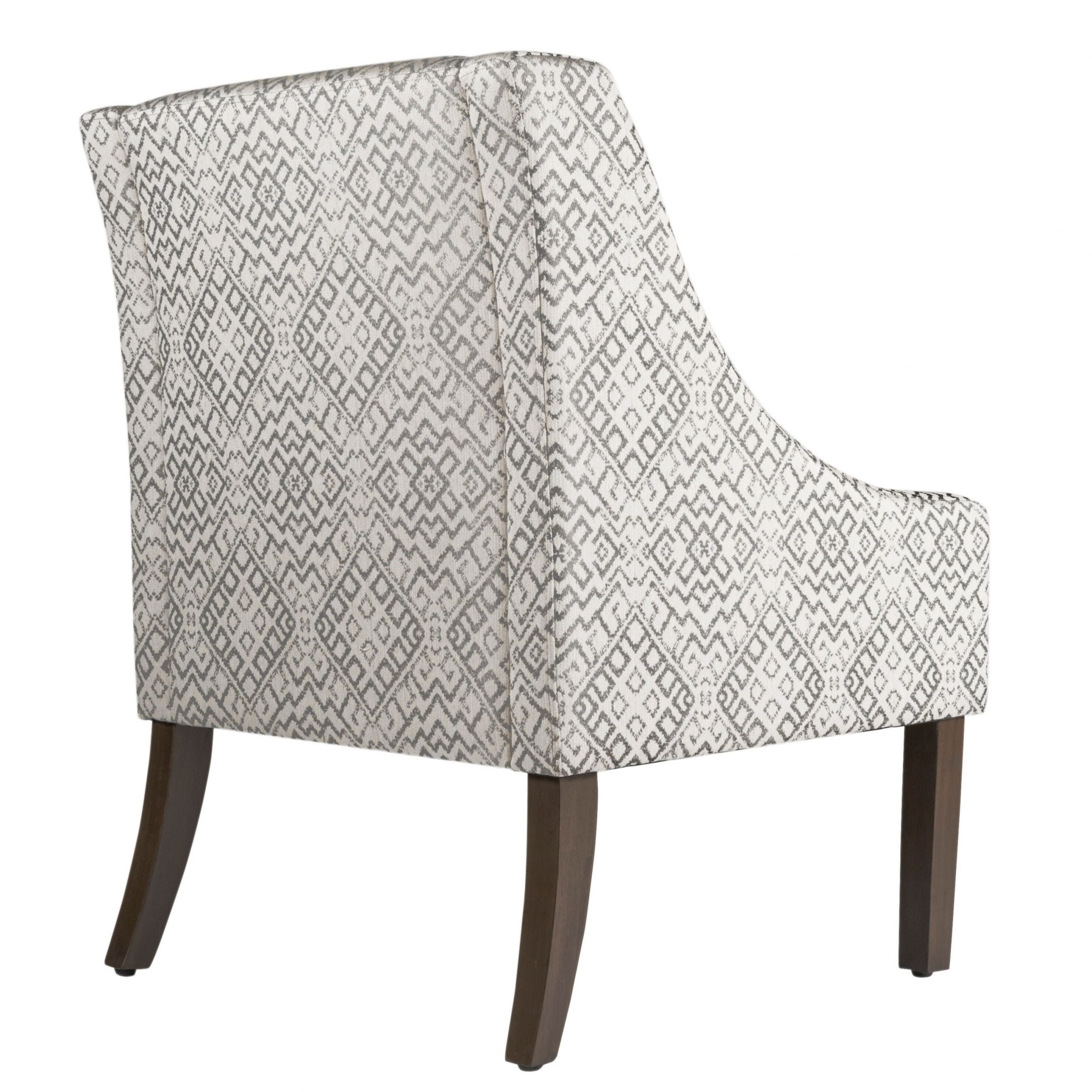 Homepop Swoop Accent Chair In Tonal Gray Within Well Known Altamahaw Swoop Side Chairs (View 20 of 20)