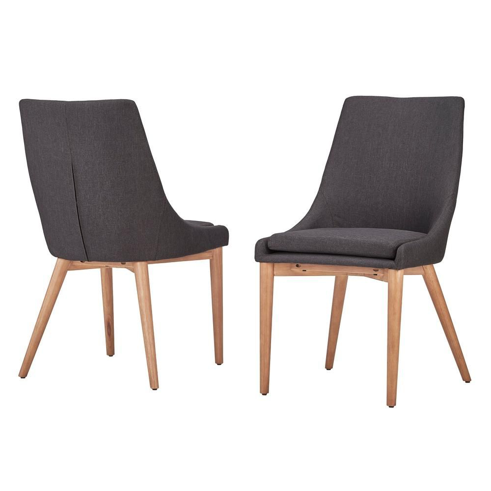Homesullivan Nobleton Dark Grey Linen Dining Chair (set Of 2 Pertaining To Widely Used Aaliyah Parsons Chairs (View 11 of 20)