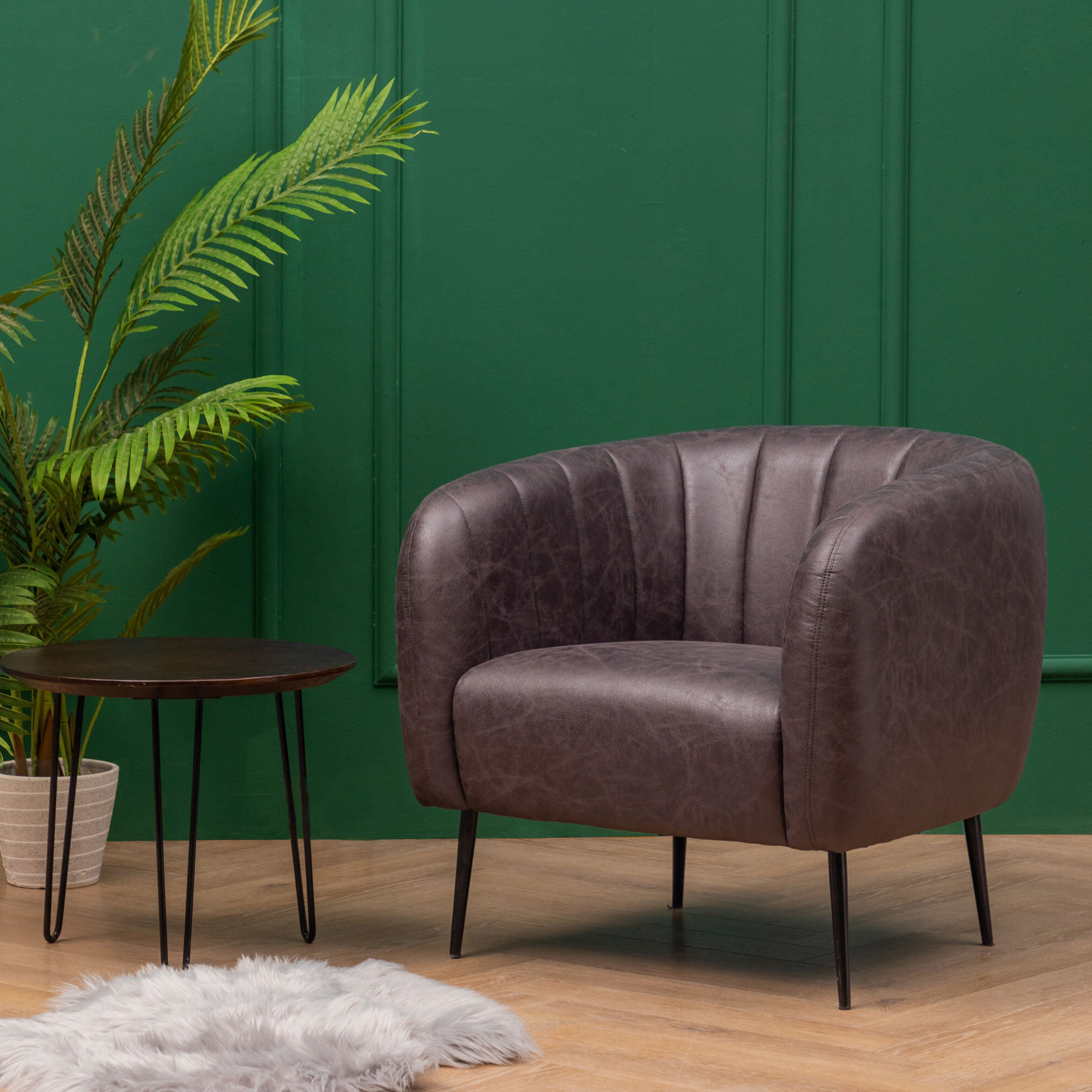 Indianola Modern Barrel Chairs Within Most Recently Released Barrel Black Accent Chairs You'll Love In (View 2 of 20)