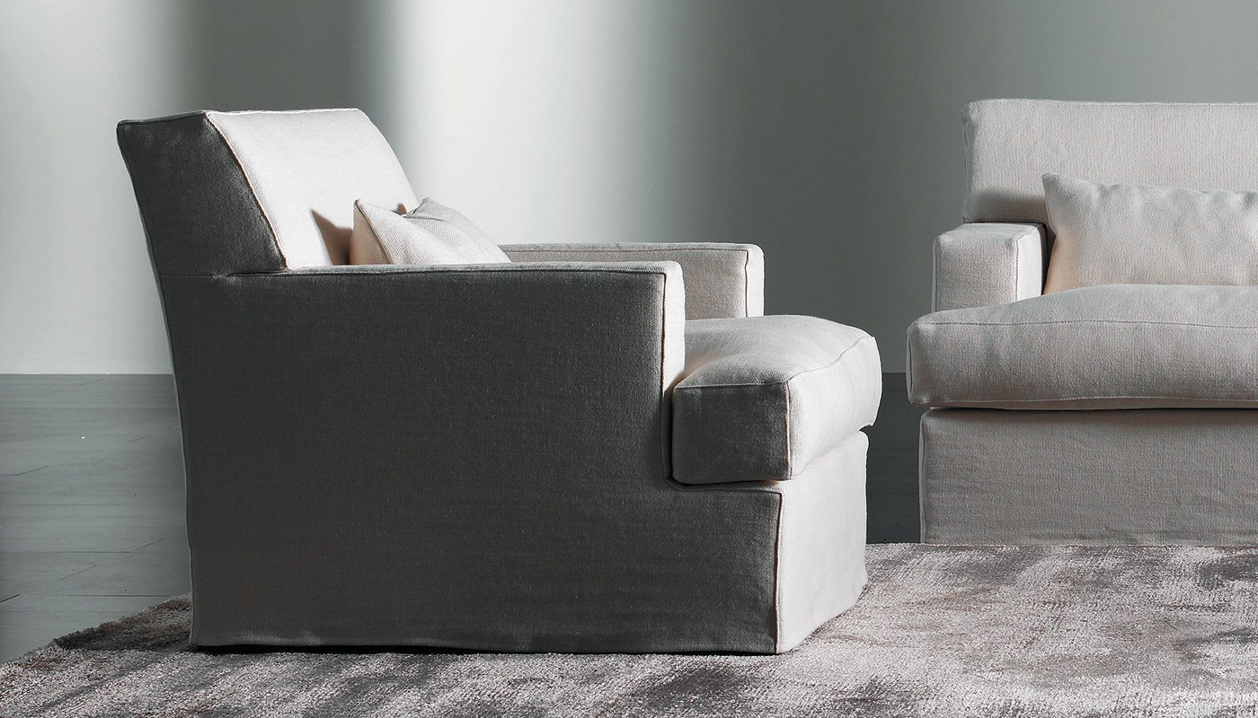 James Armchairs Pertaining To Fashionable James Slim – Small Armchairs – Meridiani Srl (View 2 of 20)