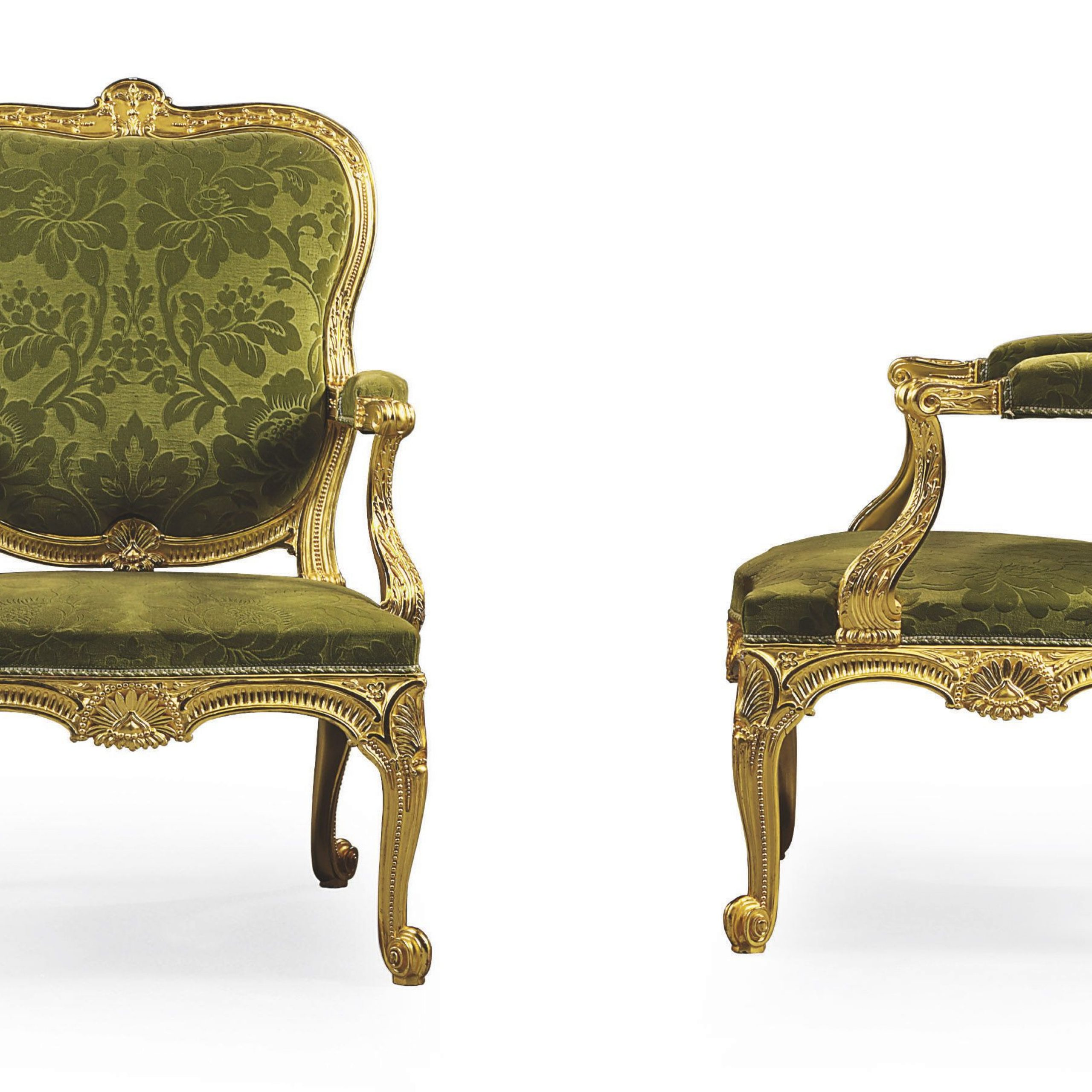 James Armchairs Regarding Most Current C1758 65 A Pair Of George Ii Giltwood Open Armchairs Almost (View 11 of 20)