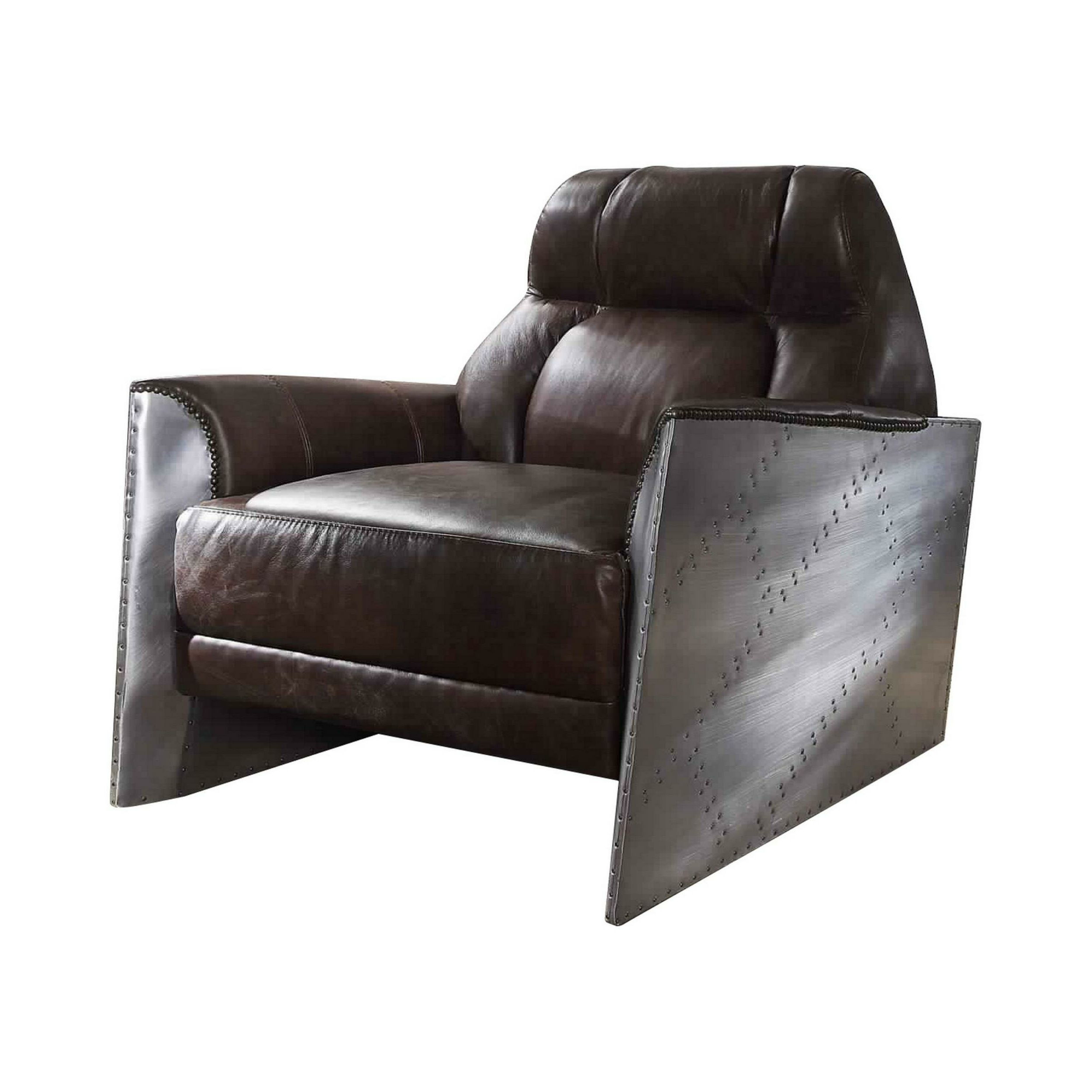 """Jarin Faux Leather Armchairs Intended For Most Up To Date Smotherman 37"""" W Faux Leather Armchair (View 10 of 20)"""