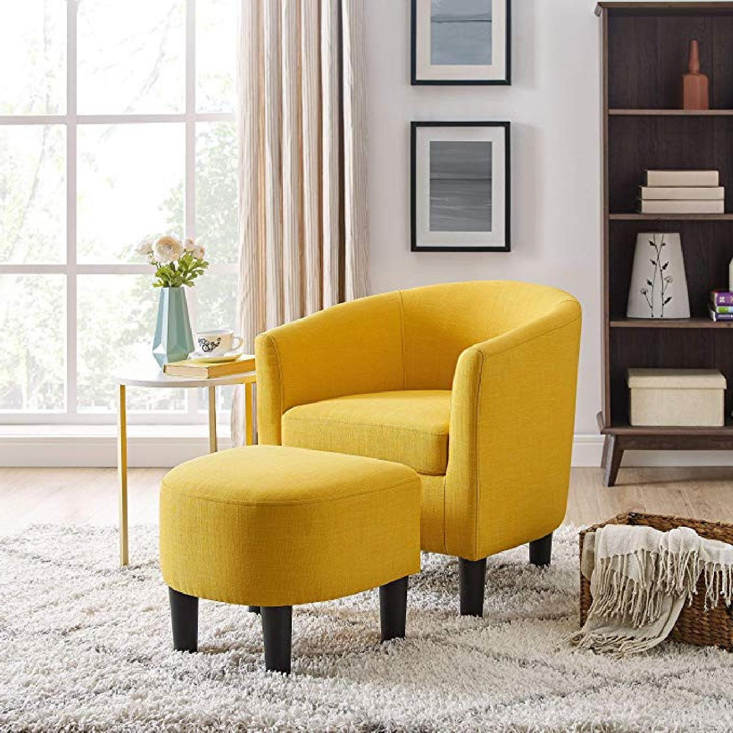 Jazouli Linen Barrel Chairs And Ottoman For Famous Latitude Run Jazouli Accent Chair & Ottoman (View 16 of 20)