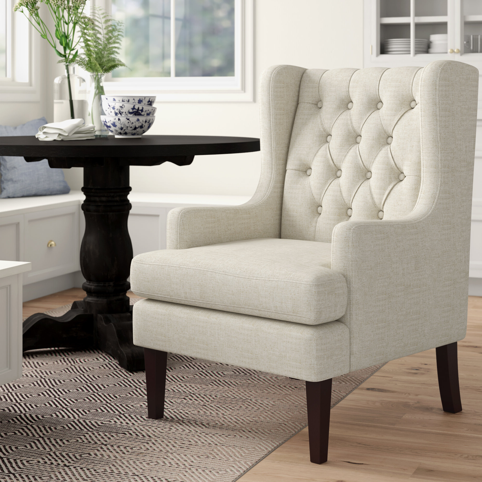 Keisha Wingback Chair Regarding Preferred Chagnon Wingback Chairs (View 15 of 20)