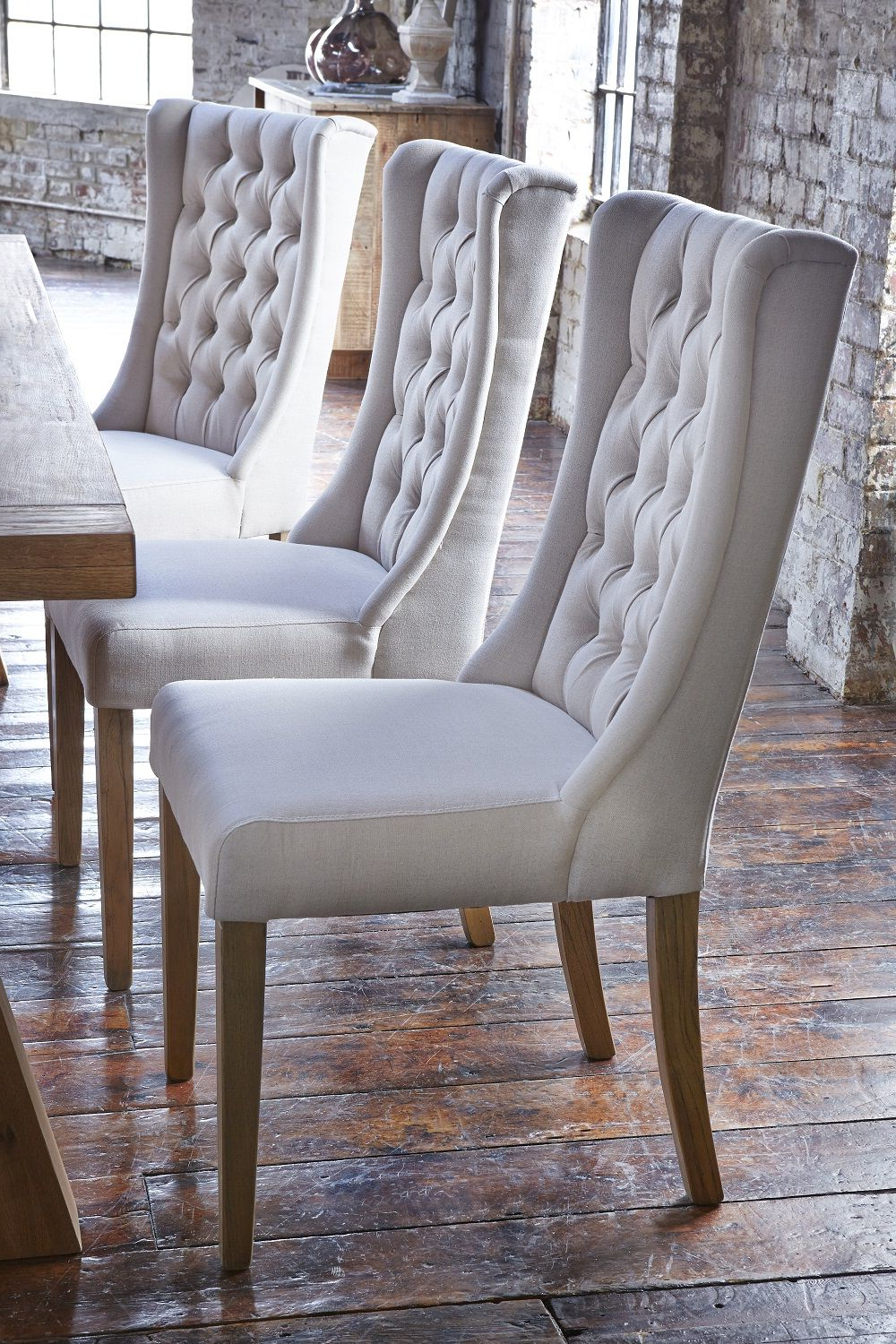 Kipling Fabric Dining Chair, Cream & Oak – Barker Inside Well Known Aime Upholstered Parsons Chairs In Beige (View 9 of 20)