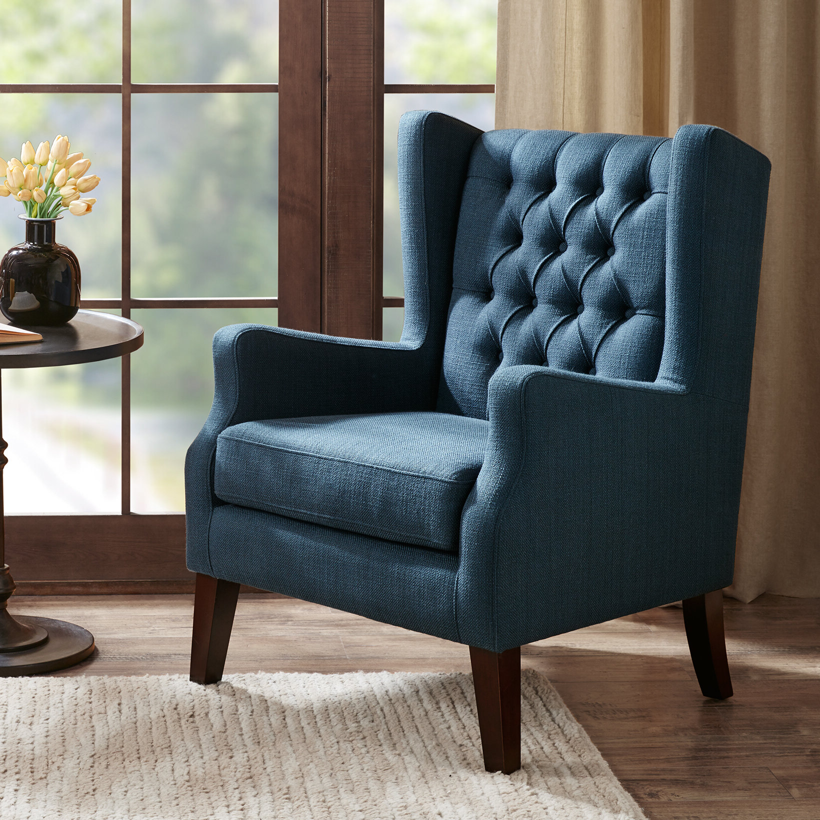 Latest Allis Tufted Polyester Blend Wingback Chairs Regarding Allis Wingback Chair (View 2 of 20)