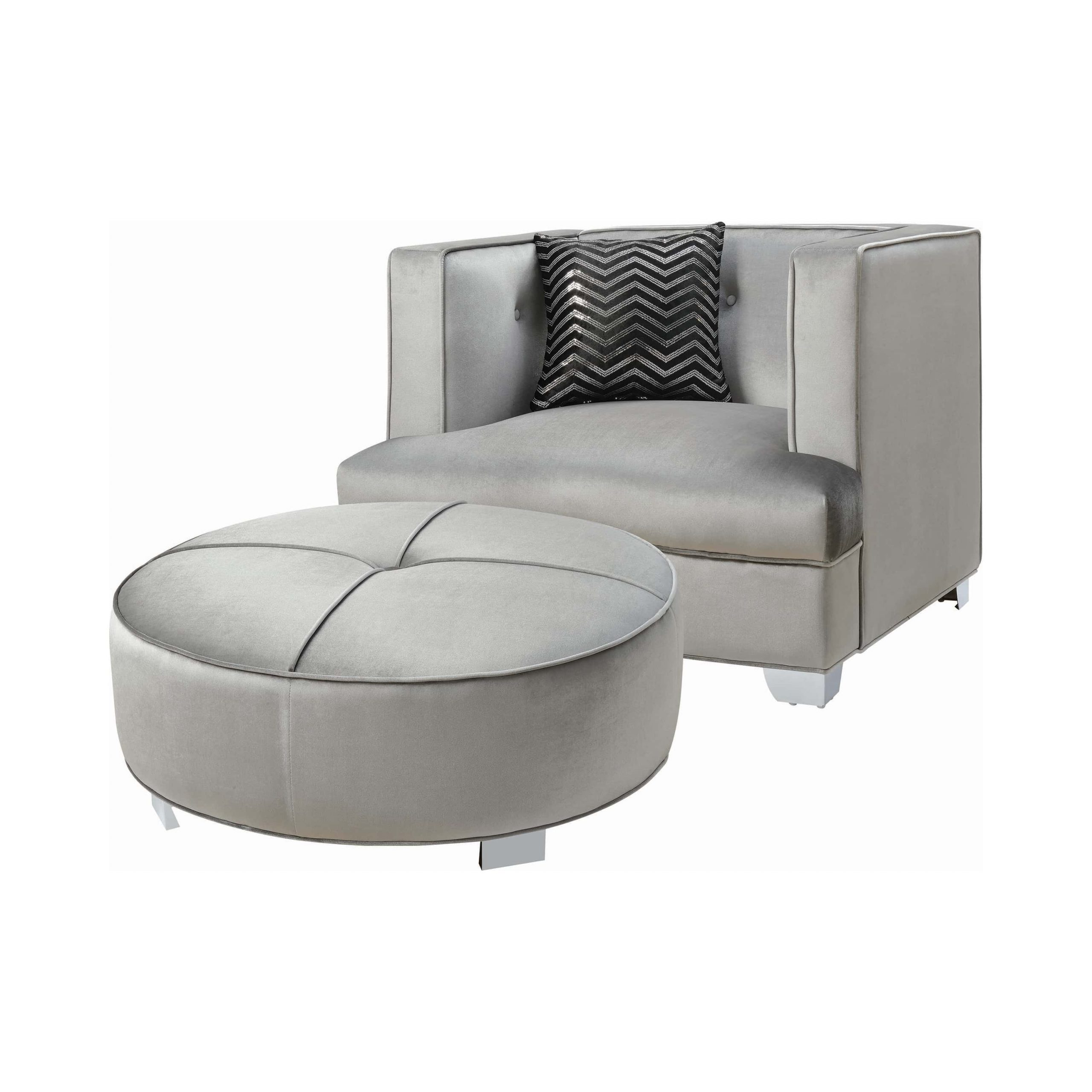 Latest Caldwell Armchairs Regarding Caldwell Recessed Arm Upholstered Chair Silvercoaster (View 13 of 20)