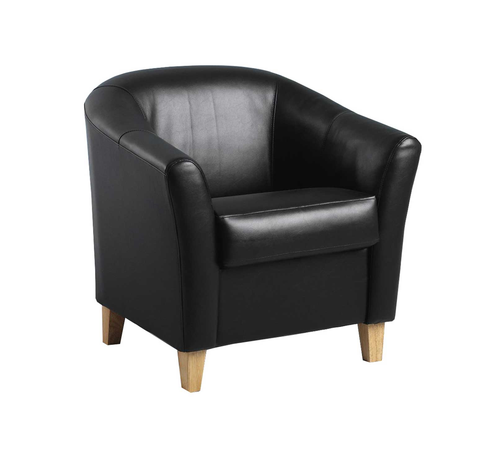Latest Faux Leather Barrel Chairs Intended For Faux Leather Tub Chair (View 10 of 20)