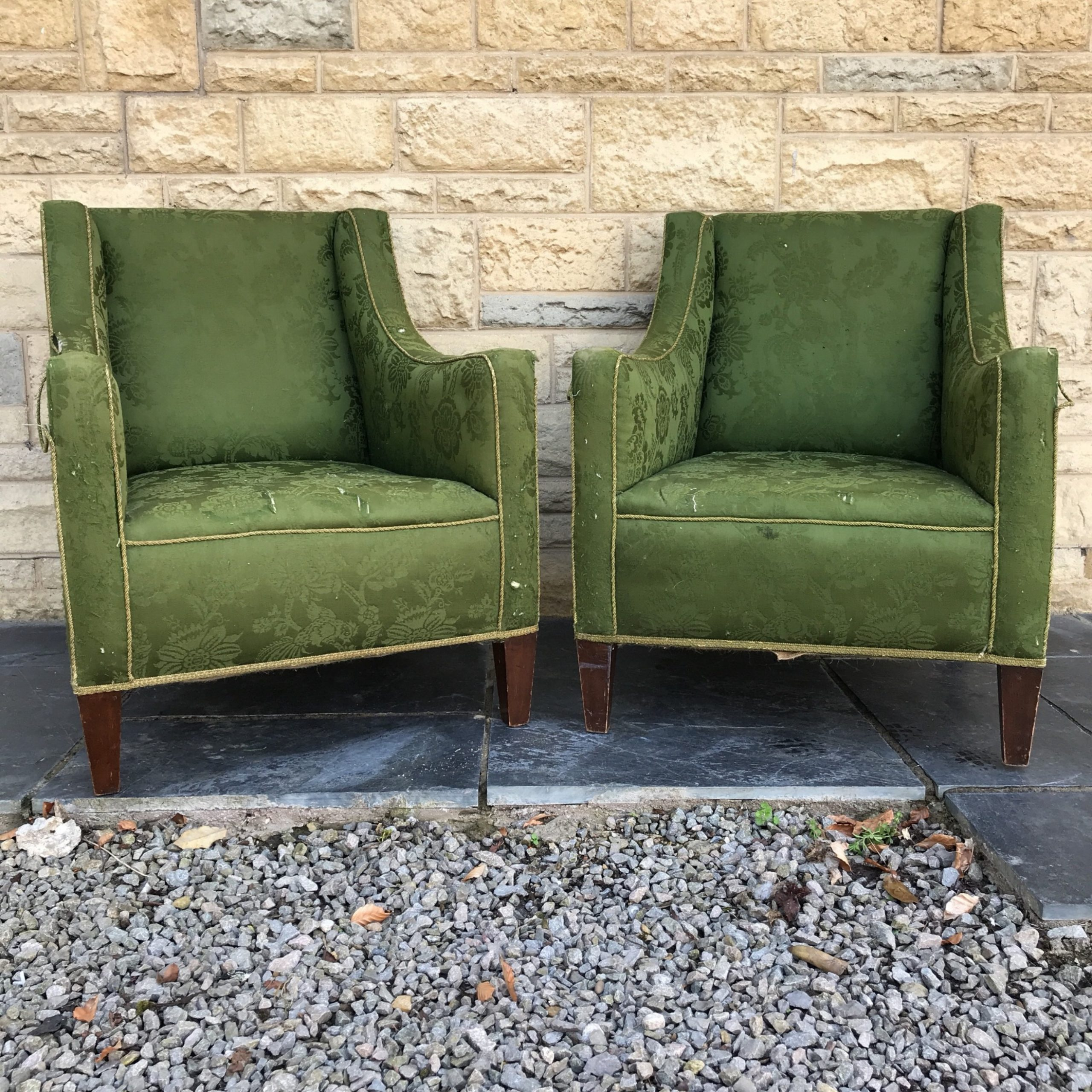 Latest Good Pair Edwardian Mahogany Easy Armchairs With Maples & Co Inside Reynolds Armchairs (View 9 of 20)