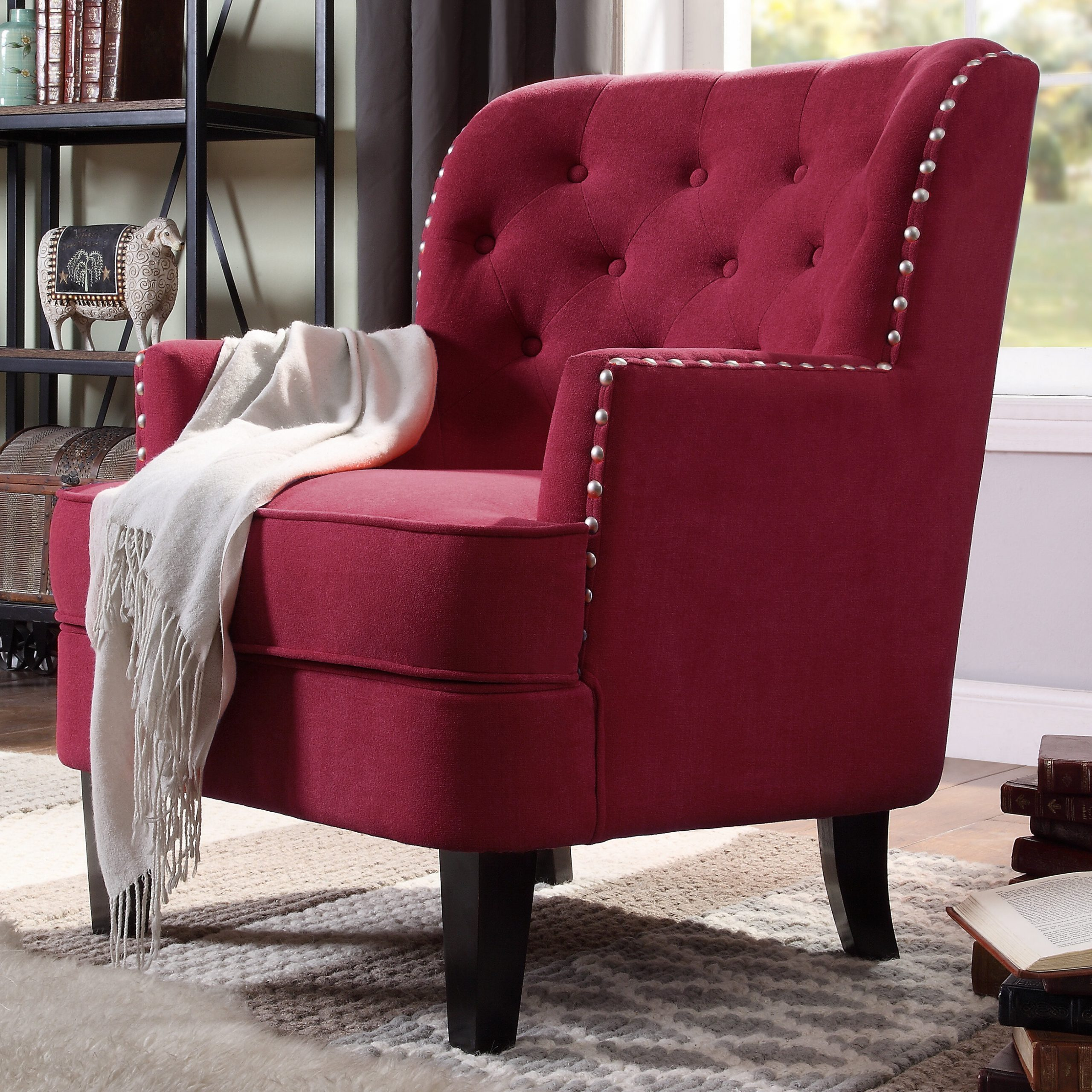 Latest Red Traditional Accent Chairs You'll Love In  (View 4 of 20)