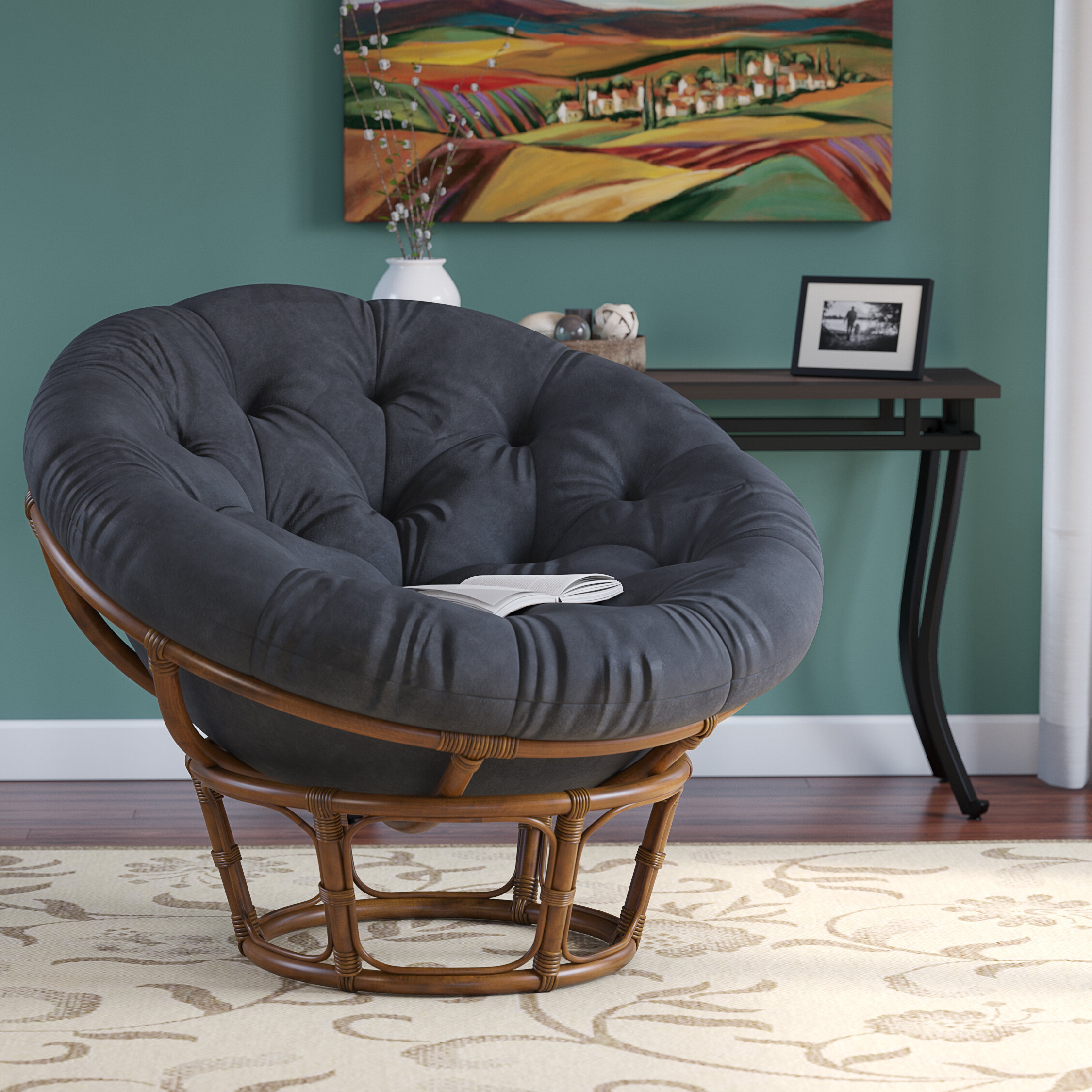 Latest Renay Papasan Chairs Intended For Decker Papasan Chair (View 5 of 20)