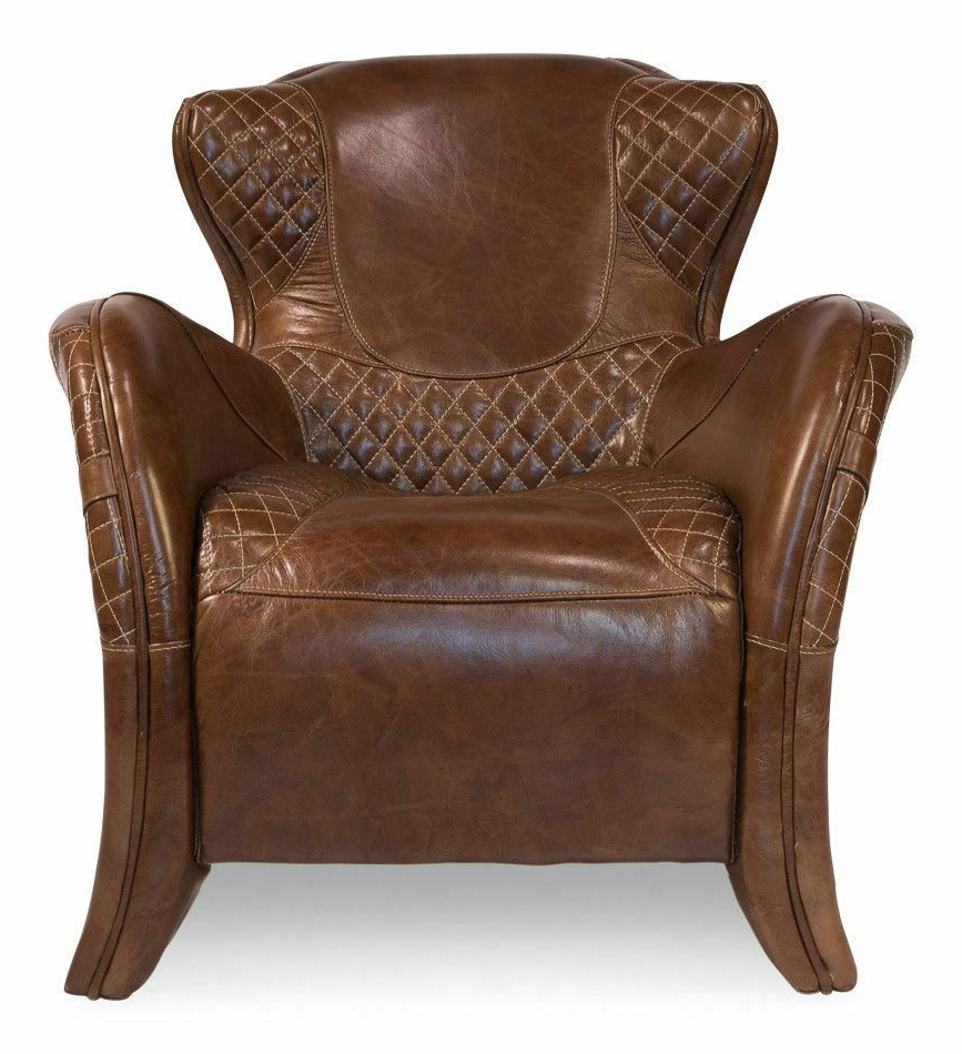 Latest Stunning Equestrian Arm Chair Top Grain Vintage Quilted With Jill Faux Leather Armchairs (View 10 of 20)