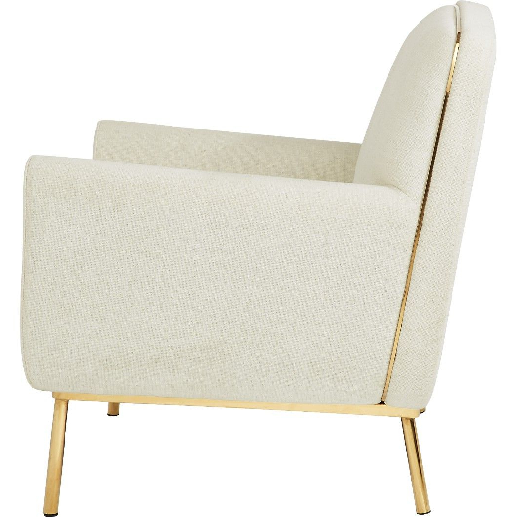 Latest Suki Armchairs By Canora Grey Pertaining To Shop Halo White Snow Armchair (View 7 of 20)