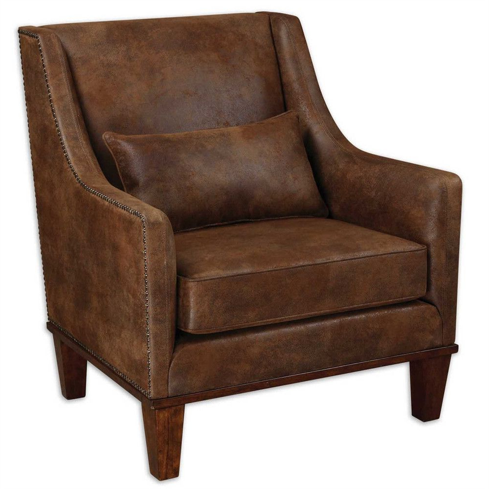 Leather Armchair, Armchair, Fabric (View 20 of 20)