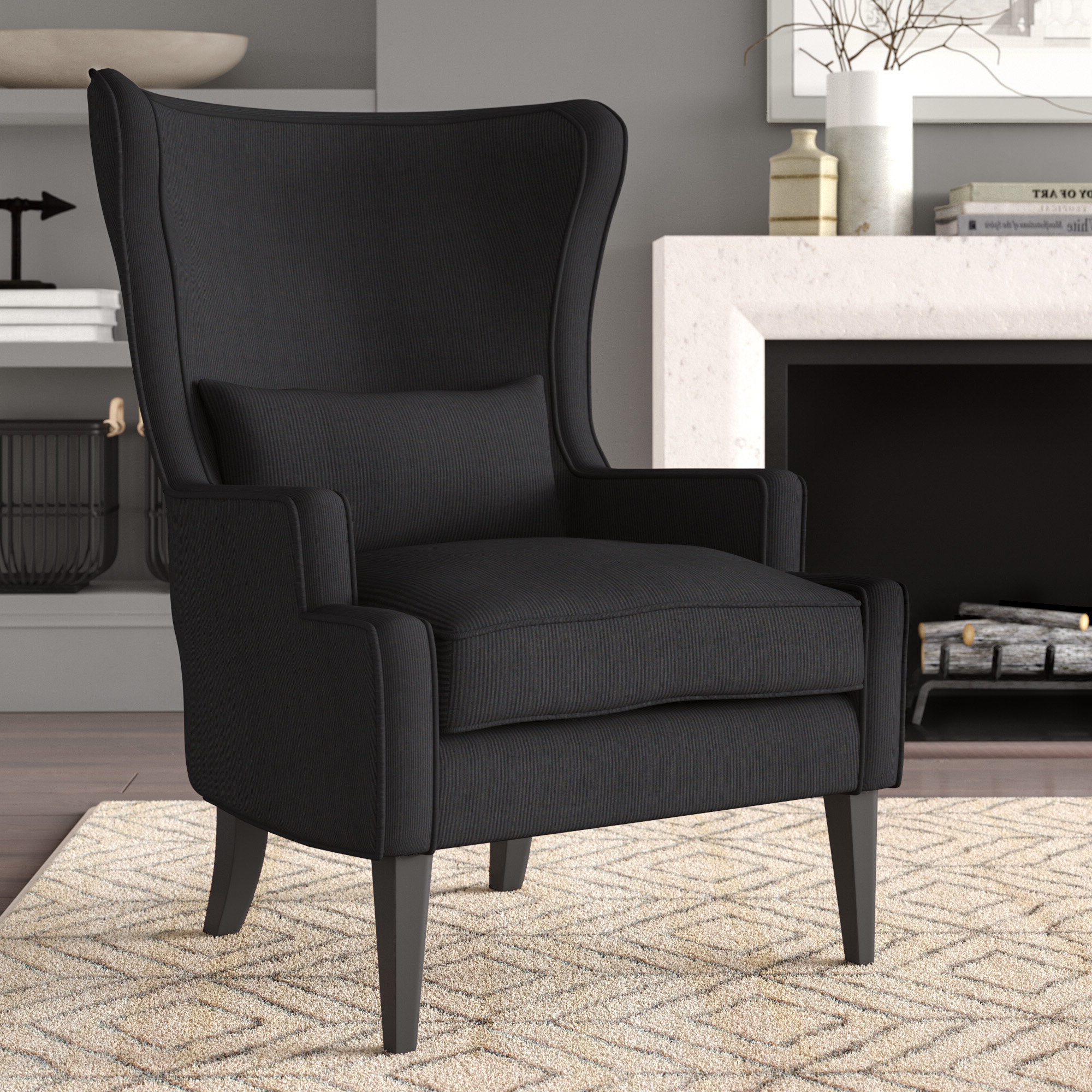 Lenaghan Wingback Chairs For 2020 Recessed Arm Wingback Accent Chairs You'll Love In  (View 19 of 20)