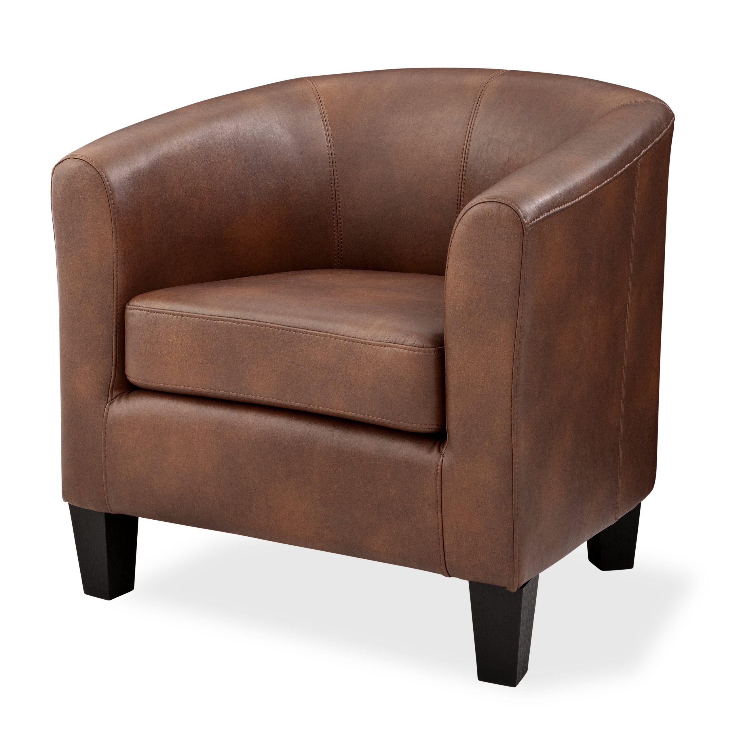 "Liam Faux Leather Barrel Chairs For Current Colden 30"" W Faux Leather Barrel Chair (View 8 of 20)"