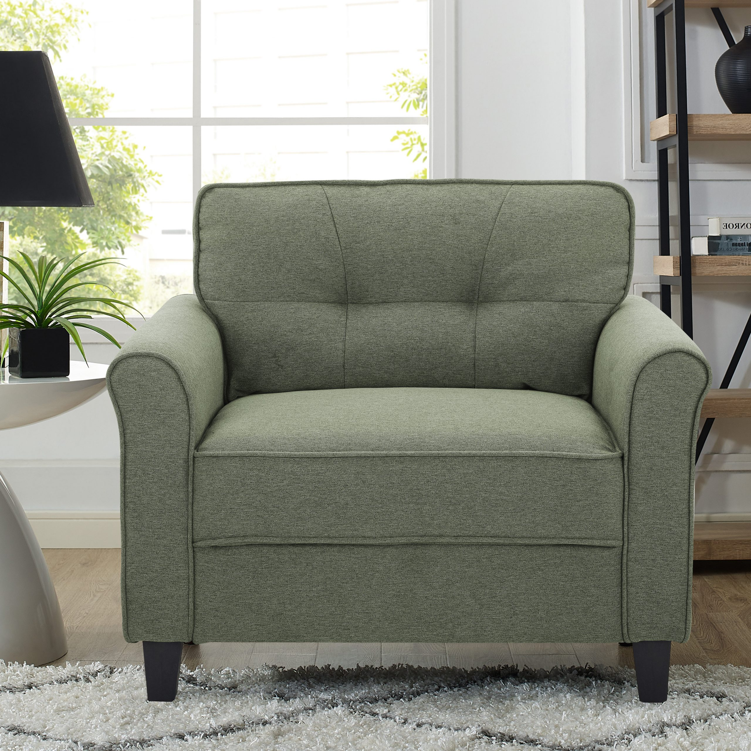 """Lifestyle Solutions 39"""" W Tufted Polyester Armchair (View 5 of 20)"""