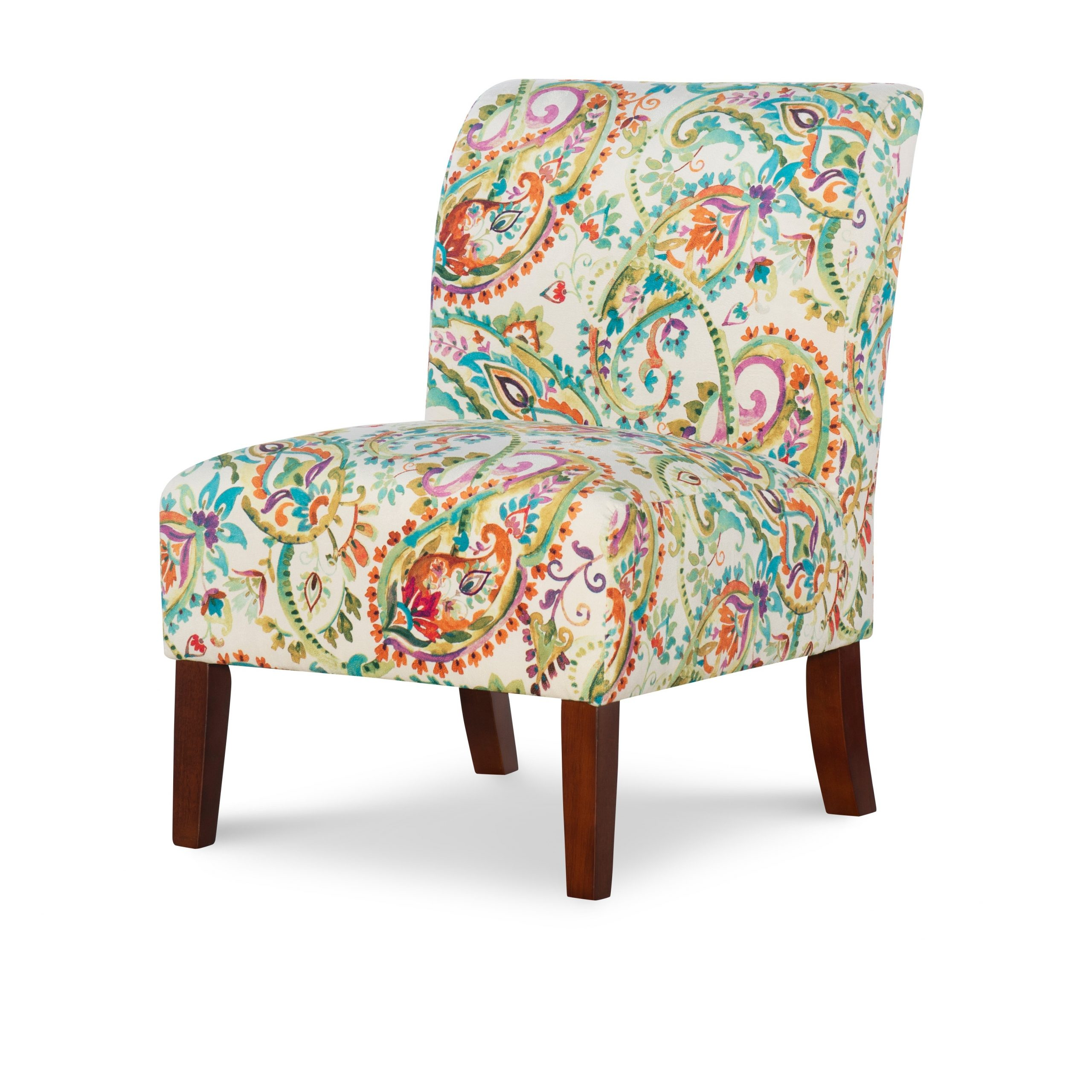 Linon Jules Curved Back Paisley Slipper Chair – Walmart In Most Up To Date Goodyear Slipper Chairs (View 12 of 20)
