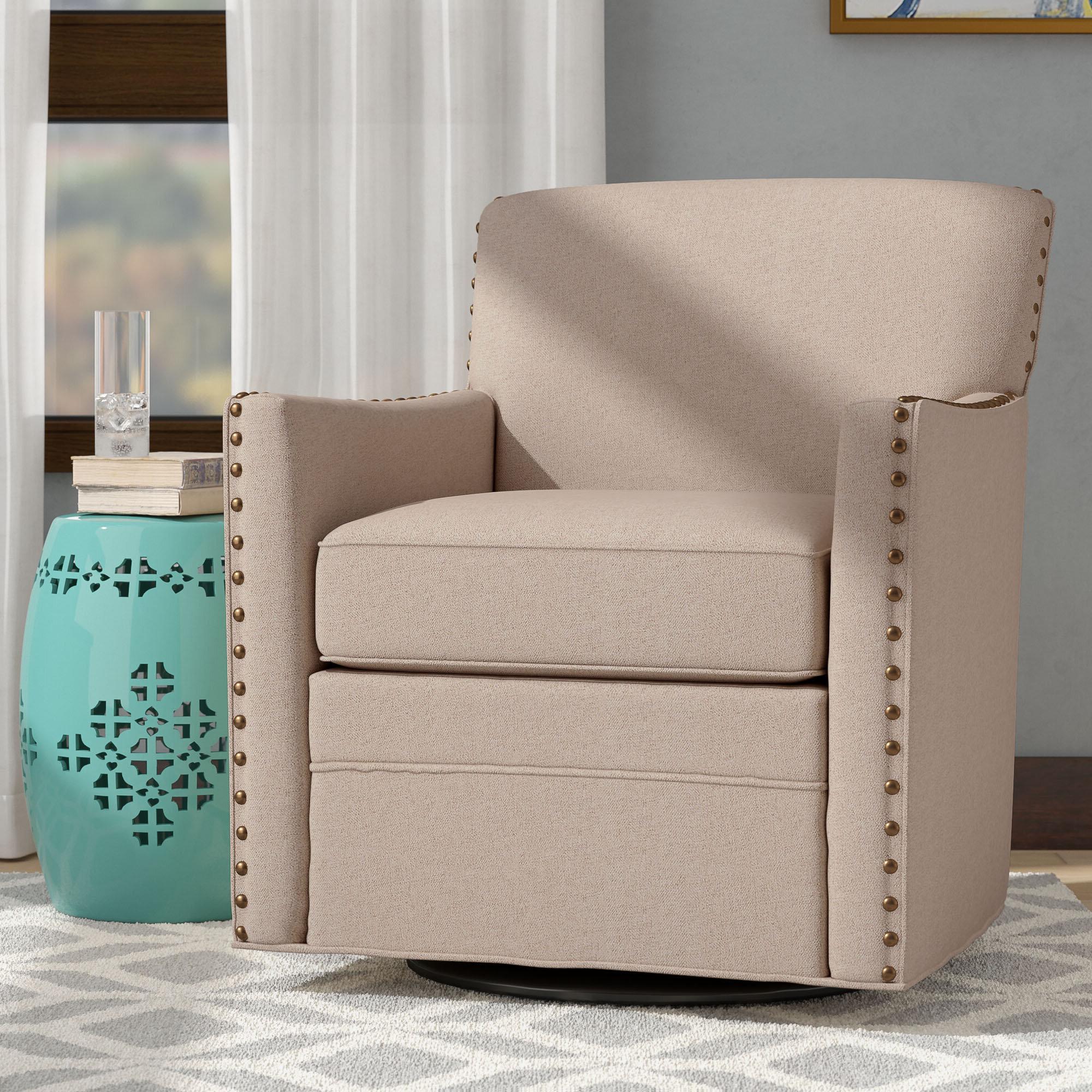 "Liskeard Swivel 21"" Armchair With Regard To 2019 Zalina Swivel Armchairs (View 4 of 20)"