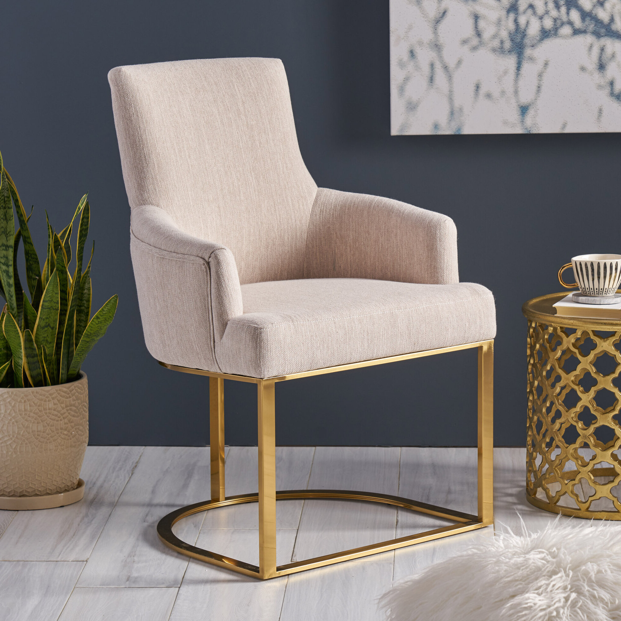 Liston Faux Leather Barrel Chairs Pertaining To 2019 Zac Fabric Armchair (View 17 of 20)
