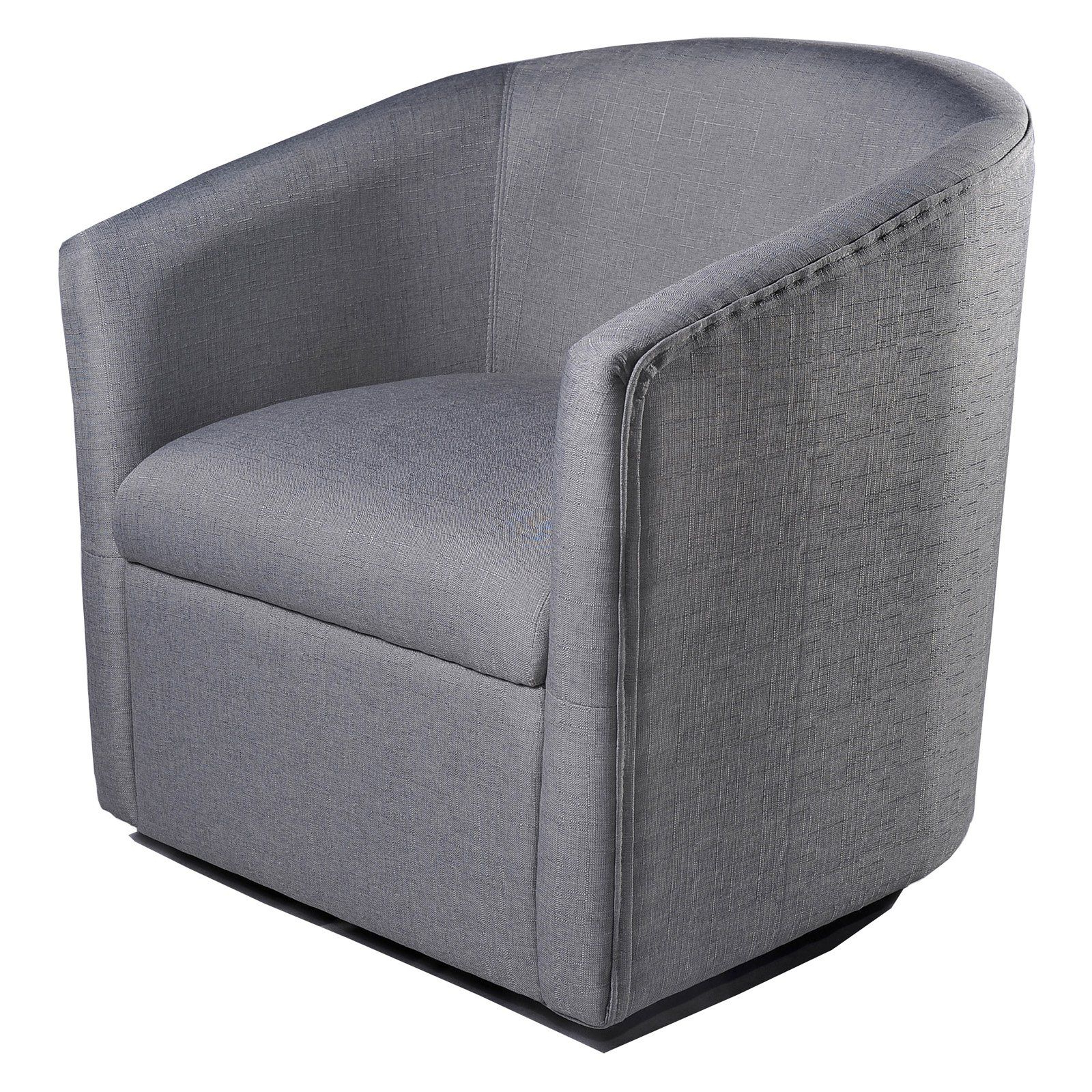 Loftus Swivel Armchairs Pertaining To 2020 Us Pride Furniture Madge Barrel Back Swivel Accent Chair (View 16 of 20)