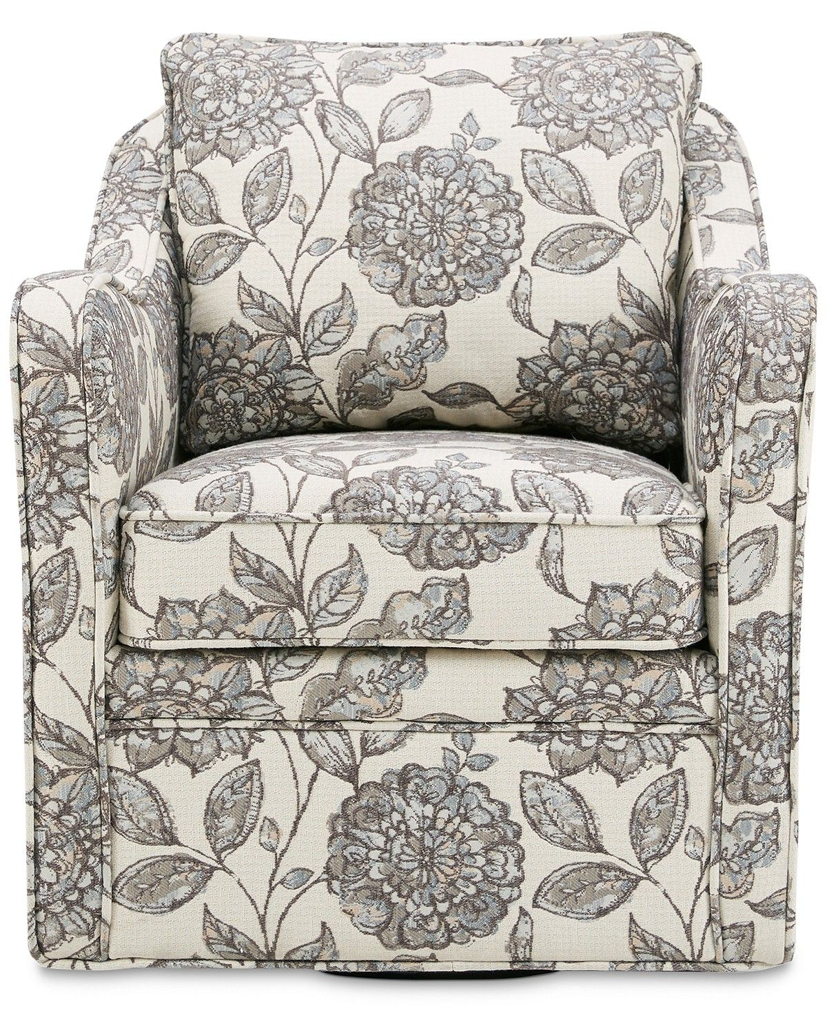 Loftus Swivel Armchairs Pertaining To Favorite Brianne Swivel Chair, Quick Ship – Furniture – Macy's (View 10 of 20)