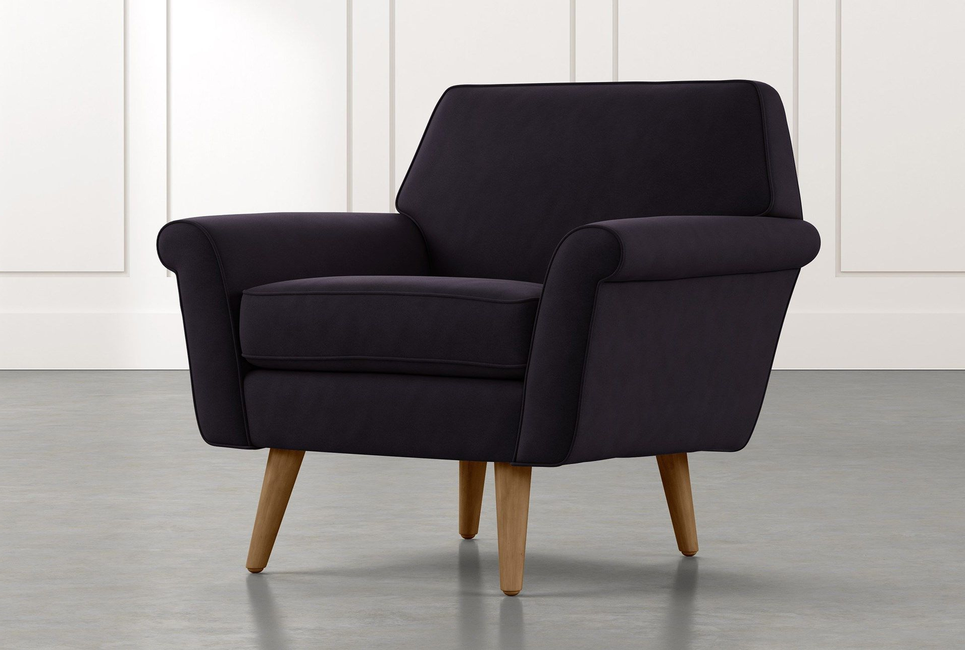 Lucea Faux Leather Barrel Chairs And Ottoman Intended For Trendy Black Accent Chairs (View 15 of 20)